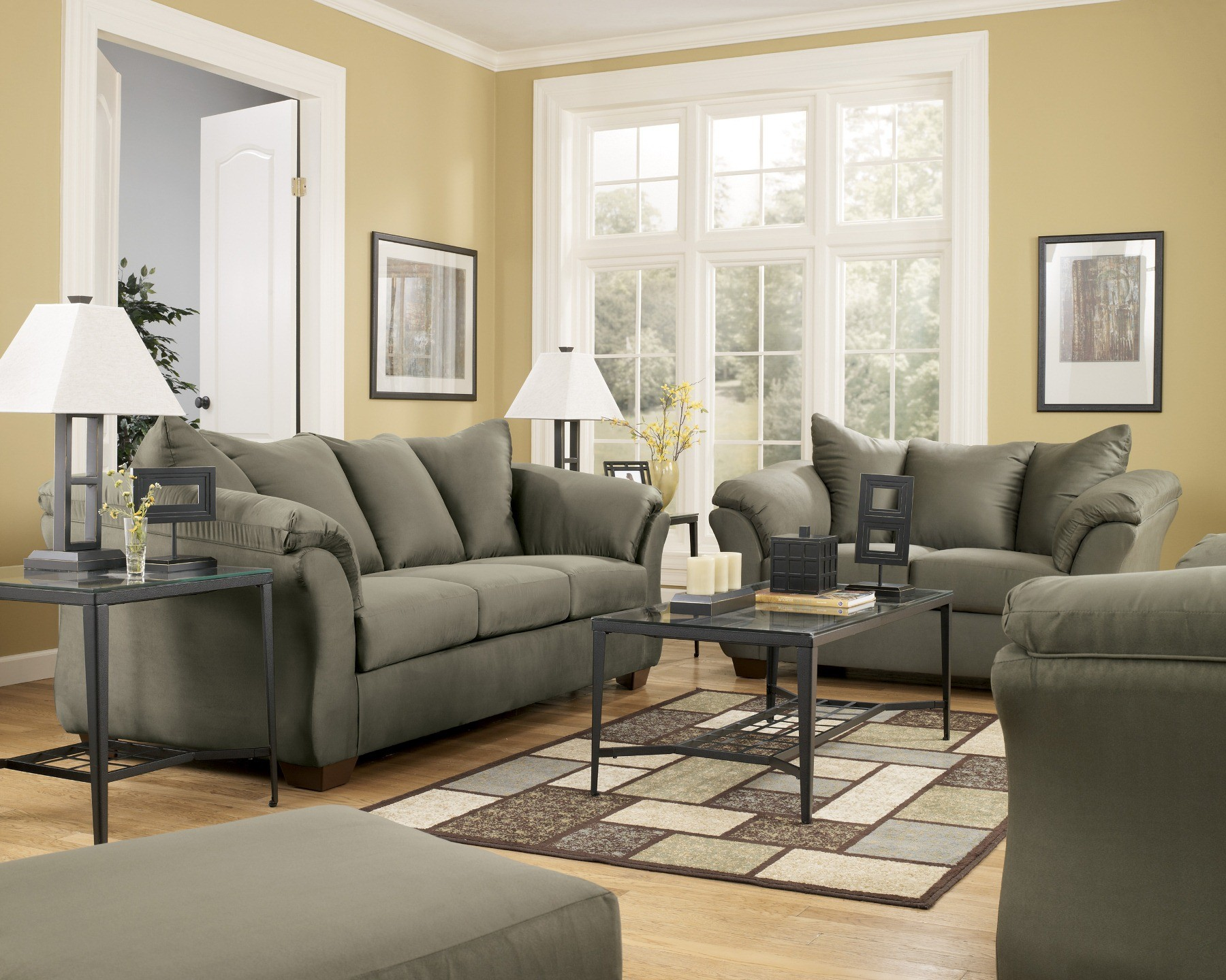 Darcy Sage Living Room Set From Ashley 75003 Coleman