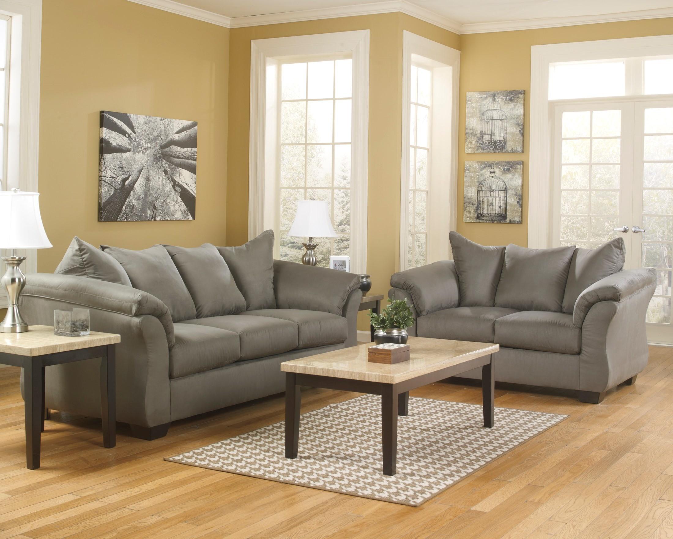Darcy Cobblestone Living Room Set From Ashley 75005 38 35
