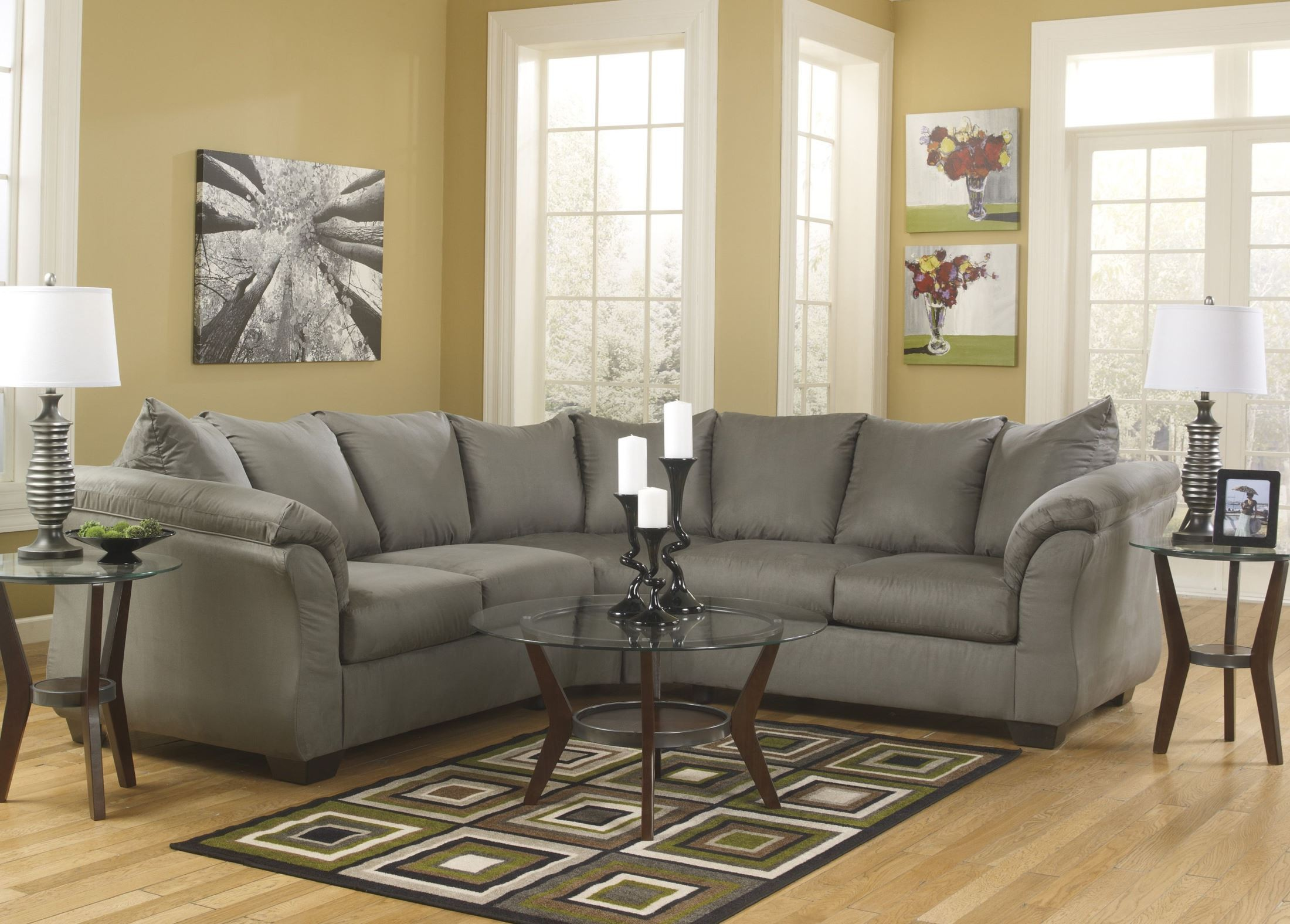 Darcy Cobblestone Sectional From Ashley 75005 55 56 Coleman Furniture