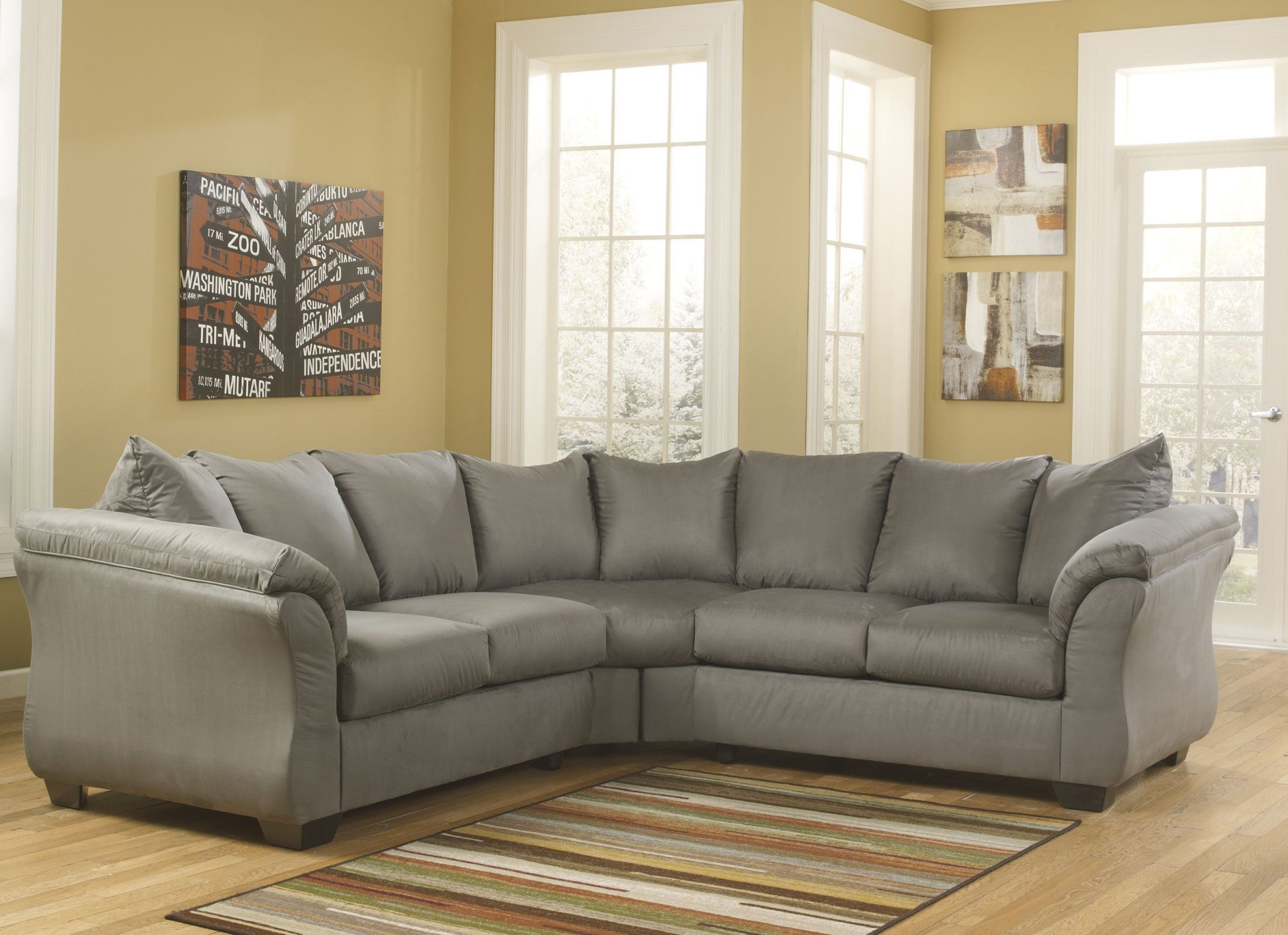 Darcy Cobblestone Sectional from Ashley 55 56