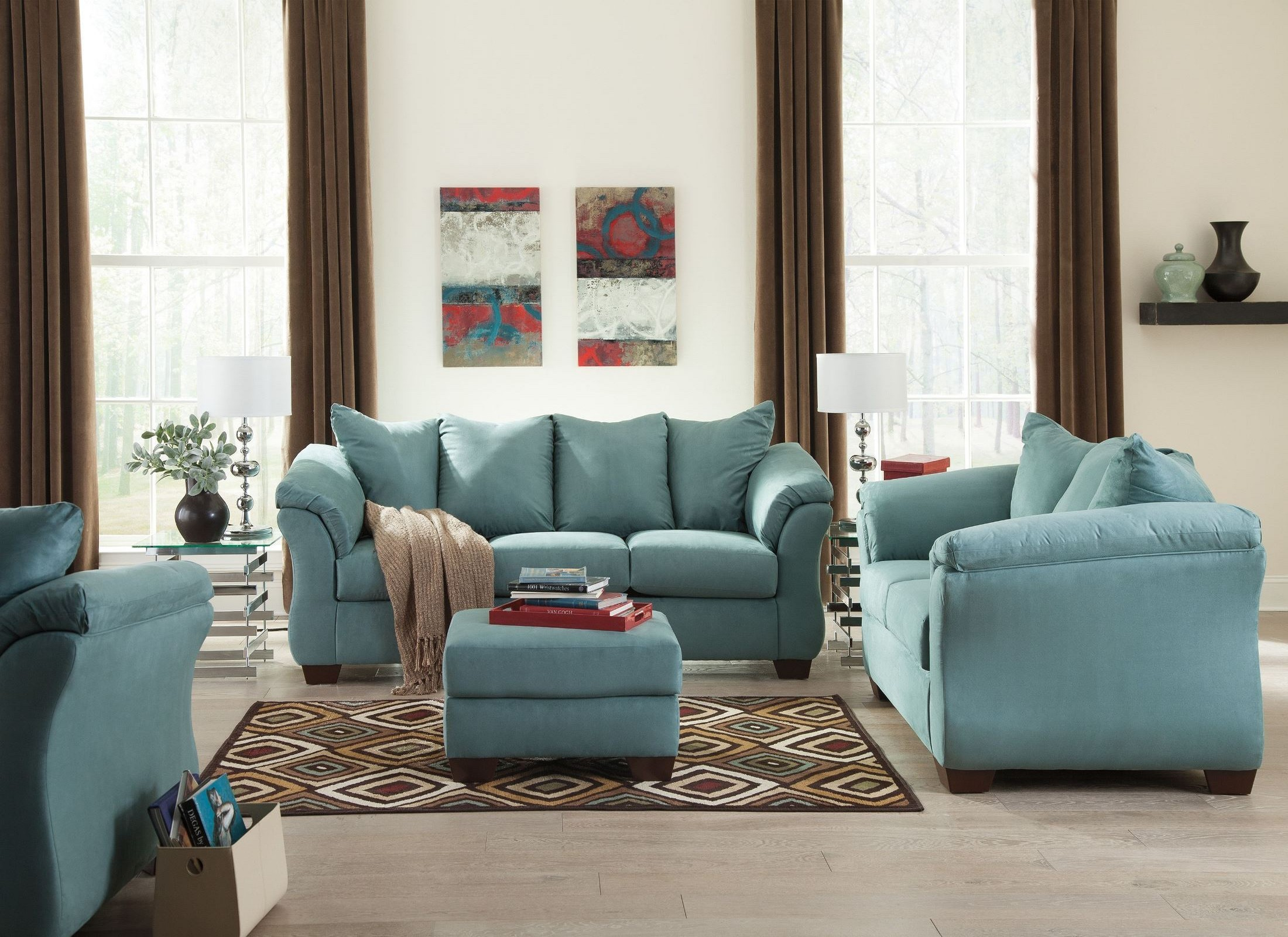 Darcy sky living room set from ashley 7500638 35 - Ashley furniture 14 piece living room sale ...