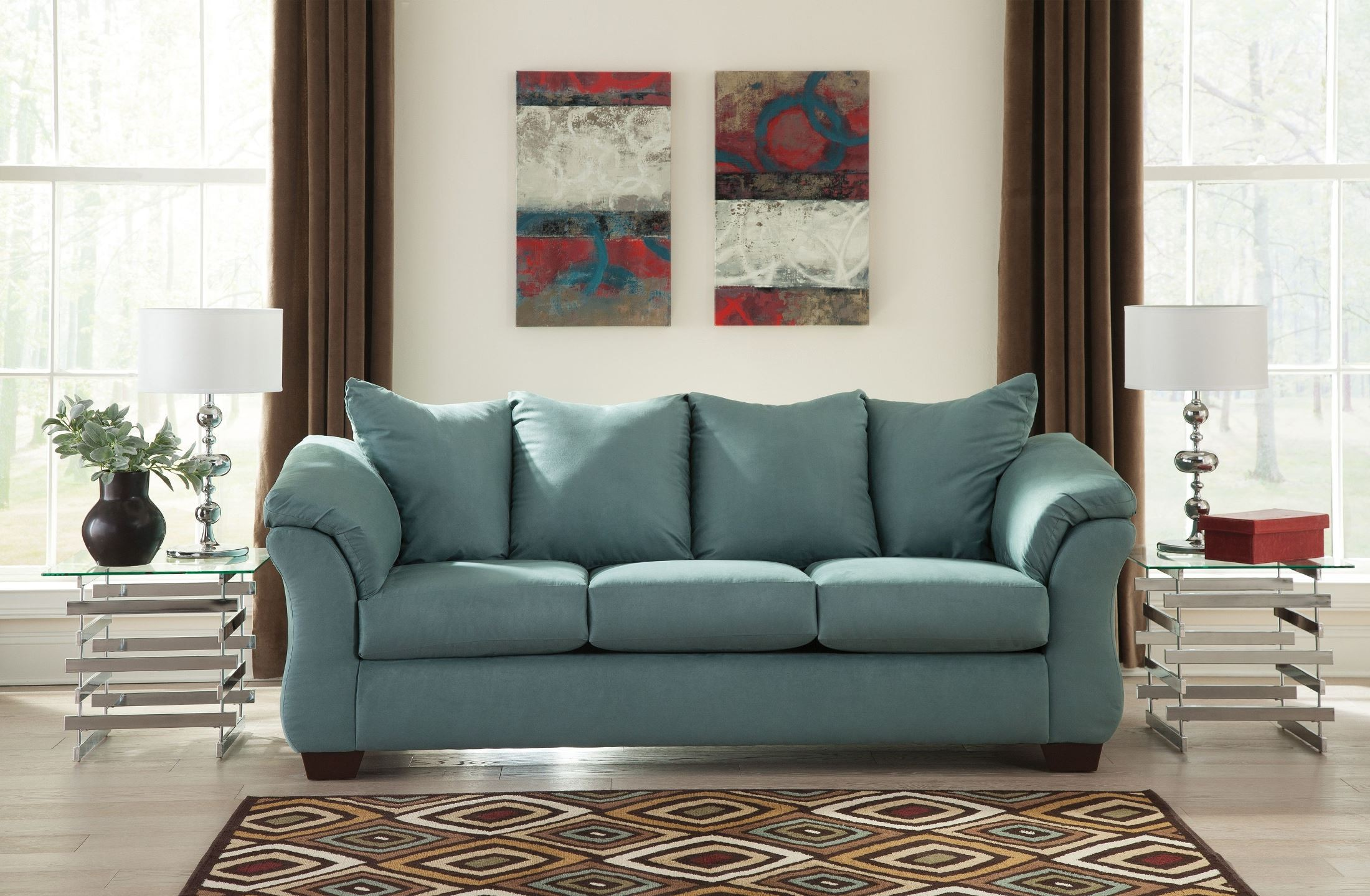 Darcy Sky Sofa From Ashley 7500638 Coleman Furniture