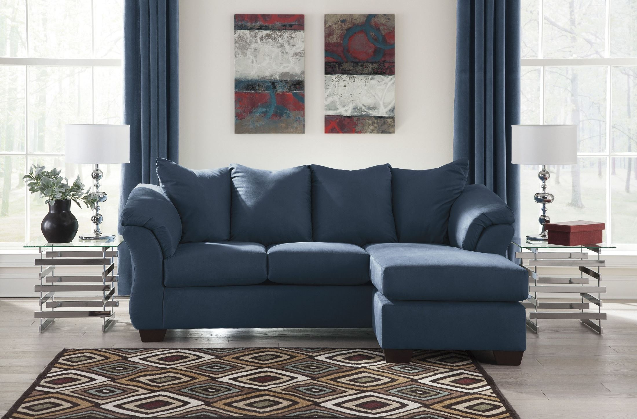 Darcy Blue Sofa Chaise From Ashley Coleman Furniture