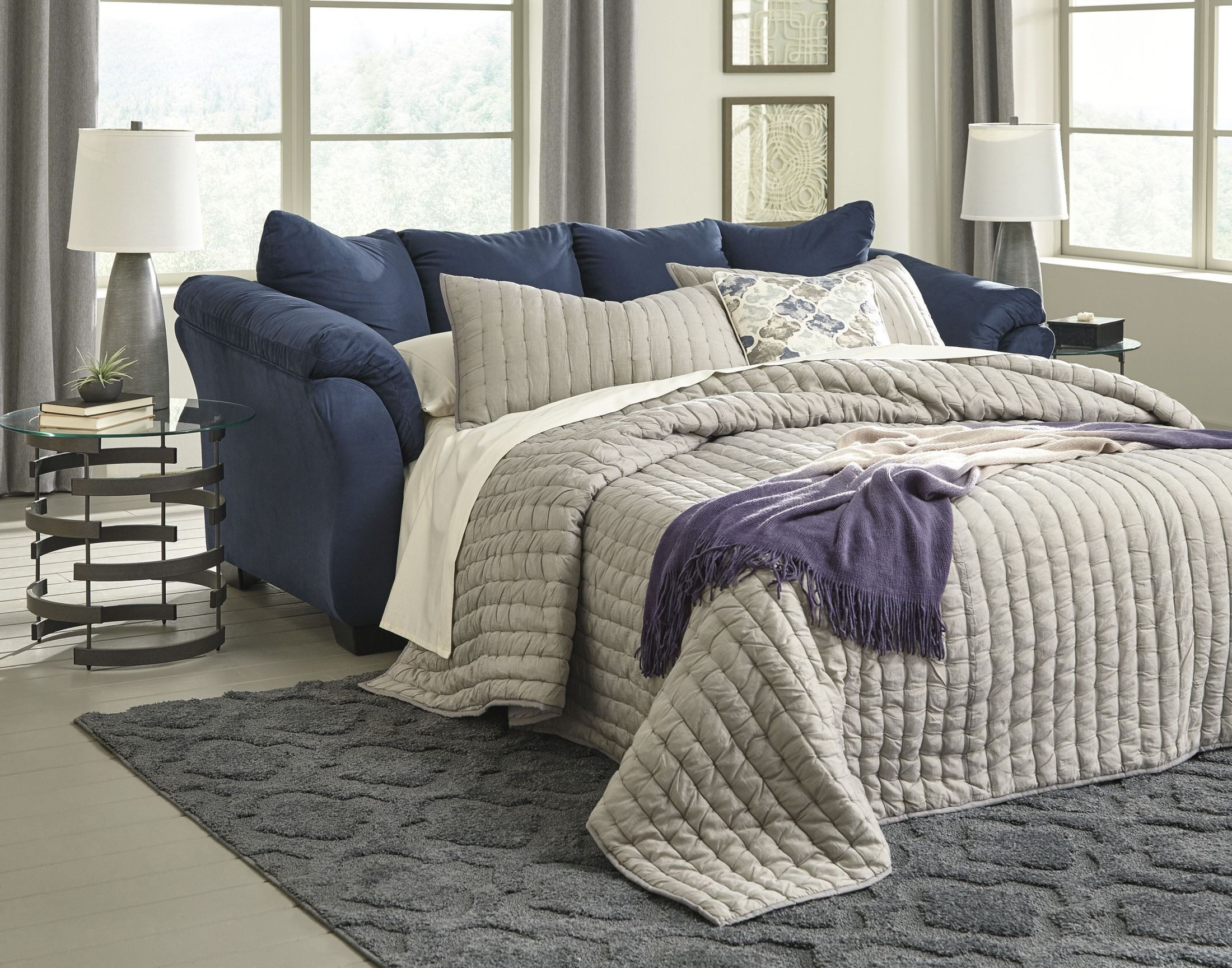Darcy Blue Full Sofa Sleeper From Ashley Coleman Furniture