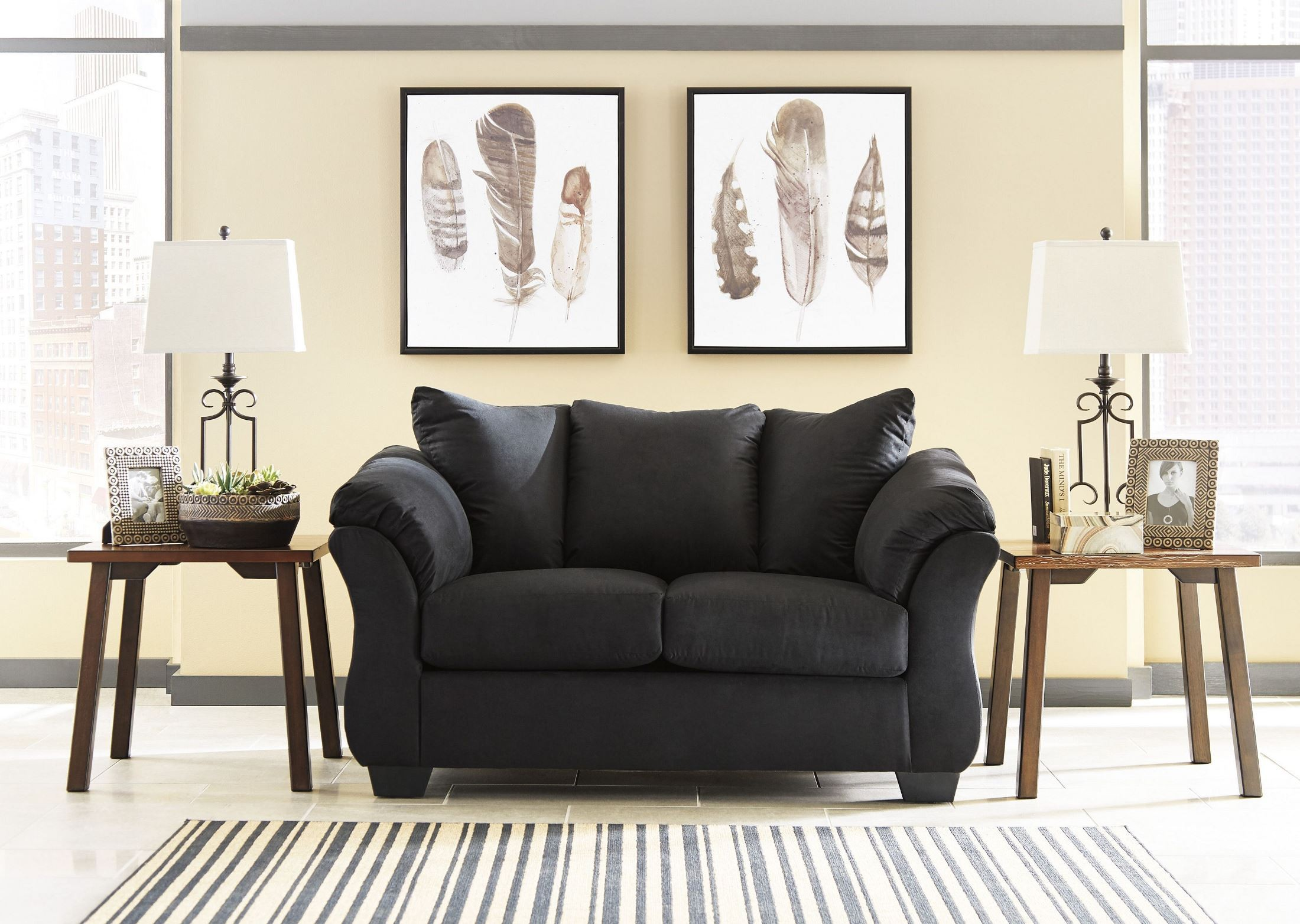 Darcy Black Loveseat From Ashley Coleman Furniture