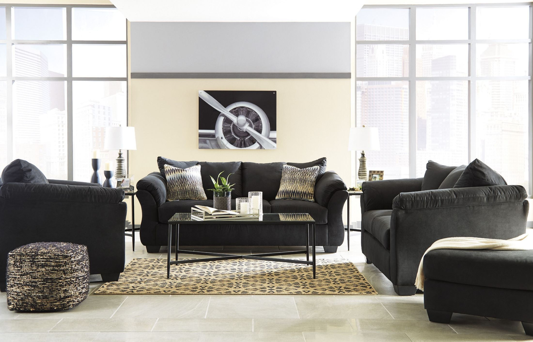 Darcy Black Living Room Set from Ashley | Coleman Furniture