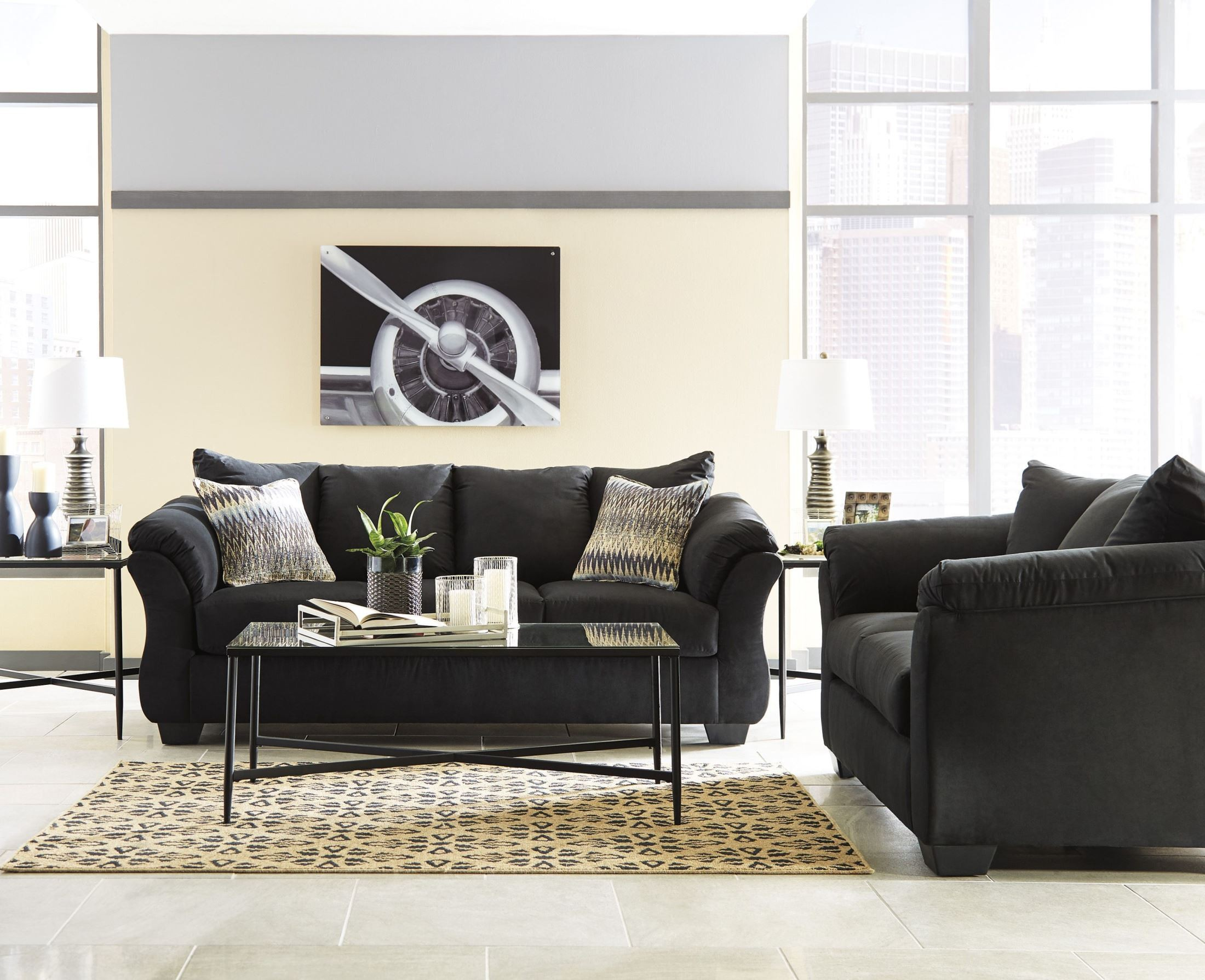 ashley center sleeper sofas photo living sofa set hodan furniture danely and conceptuy chaise unique room with