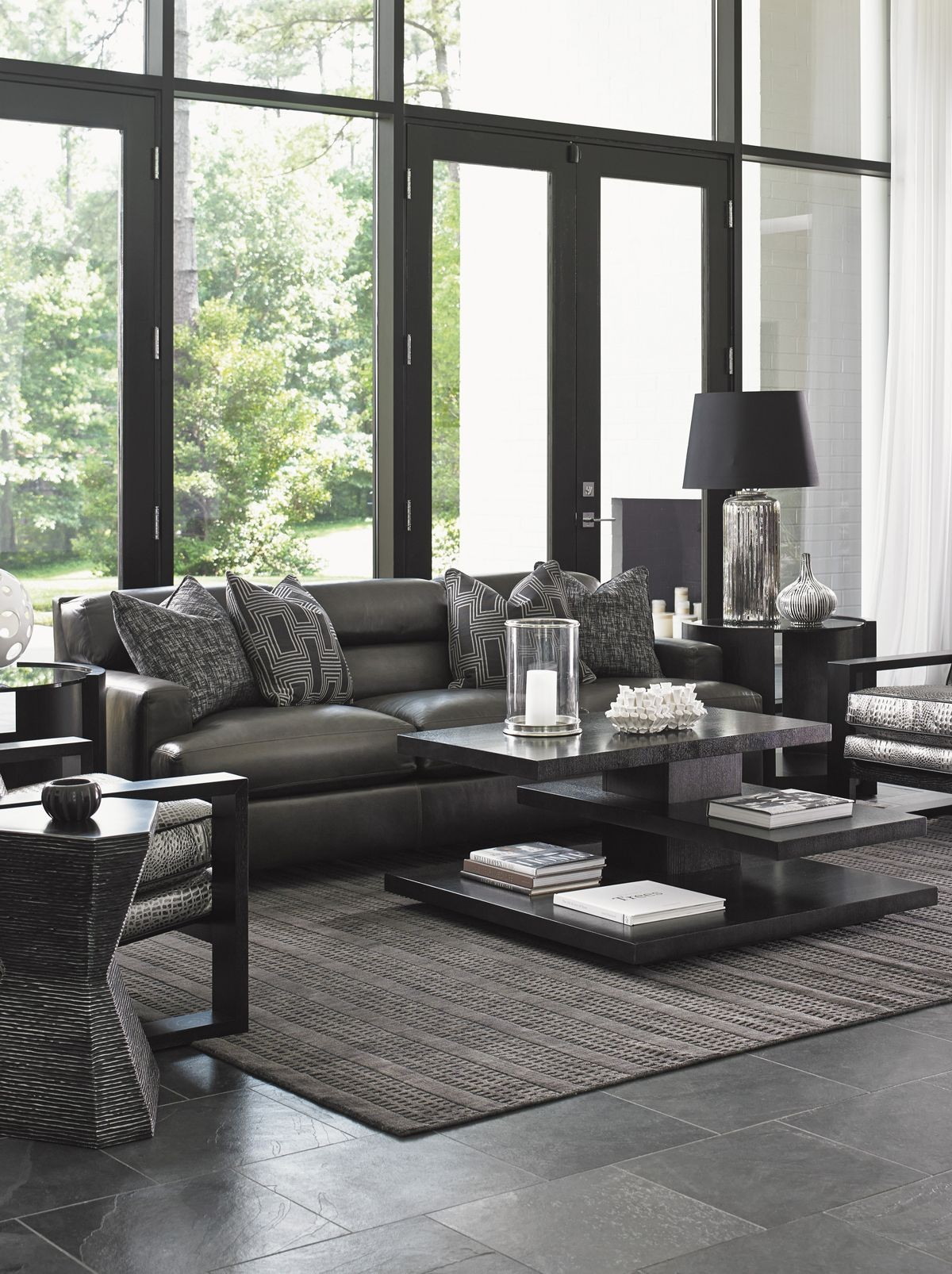 Carrera Toscana Leather Living Room Set From Lexington