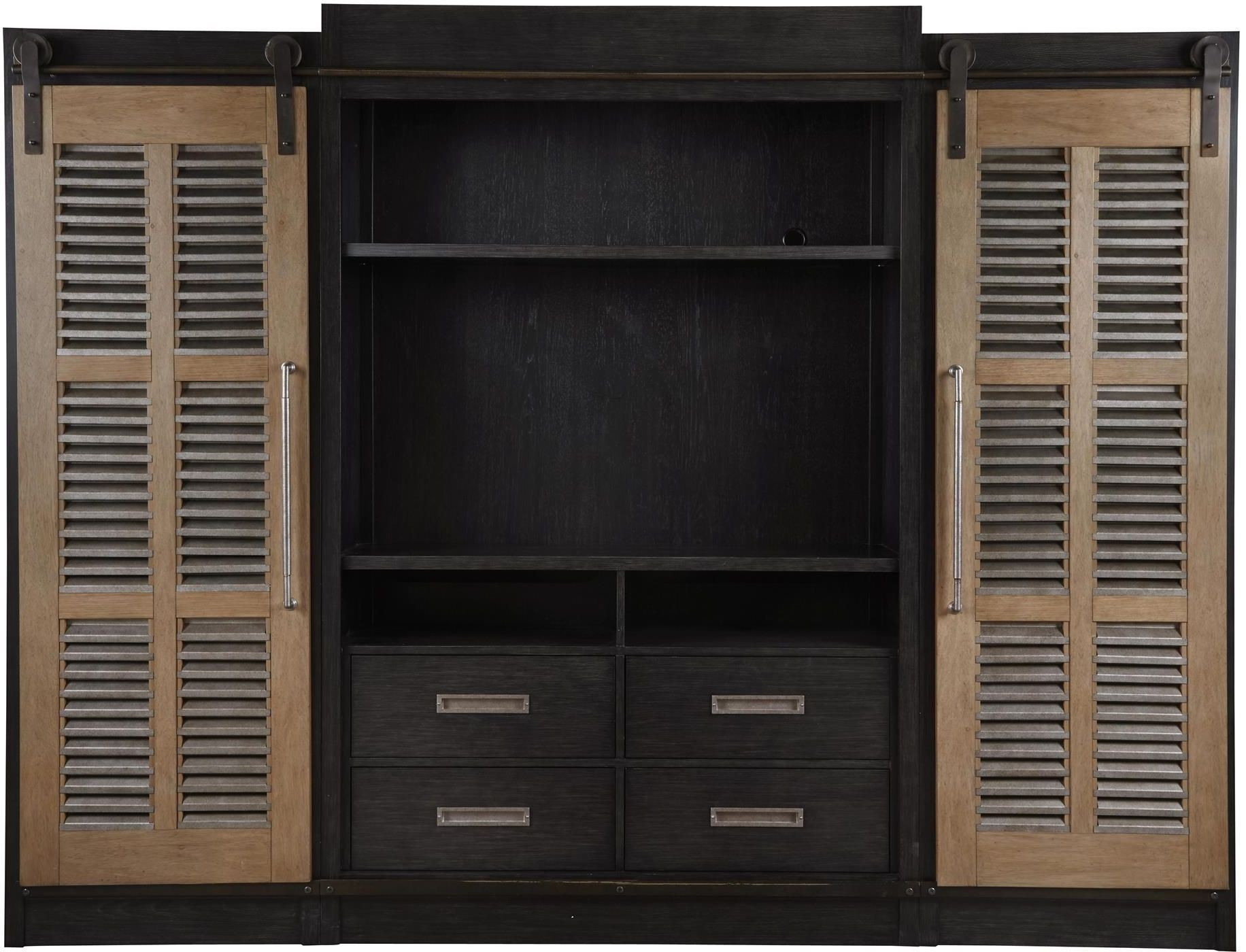 Curated Darcy Cobalt Black Entertainment Center From