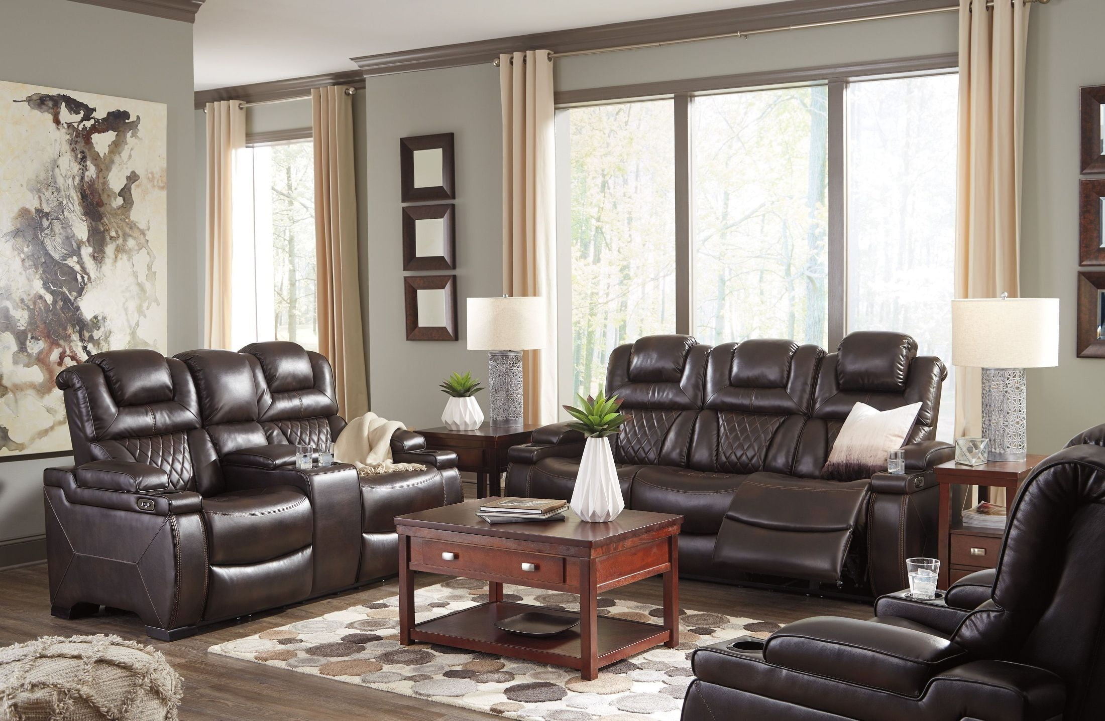 Warnerton Chocolate Power Reclining Living Room Set from ...