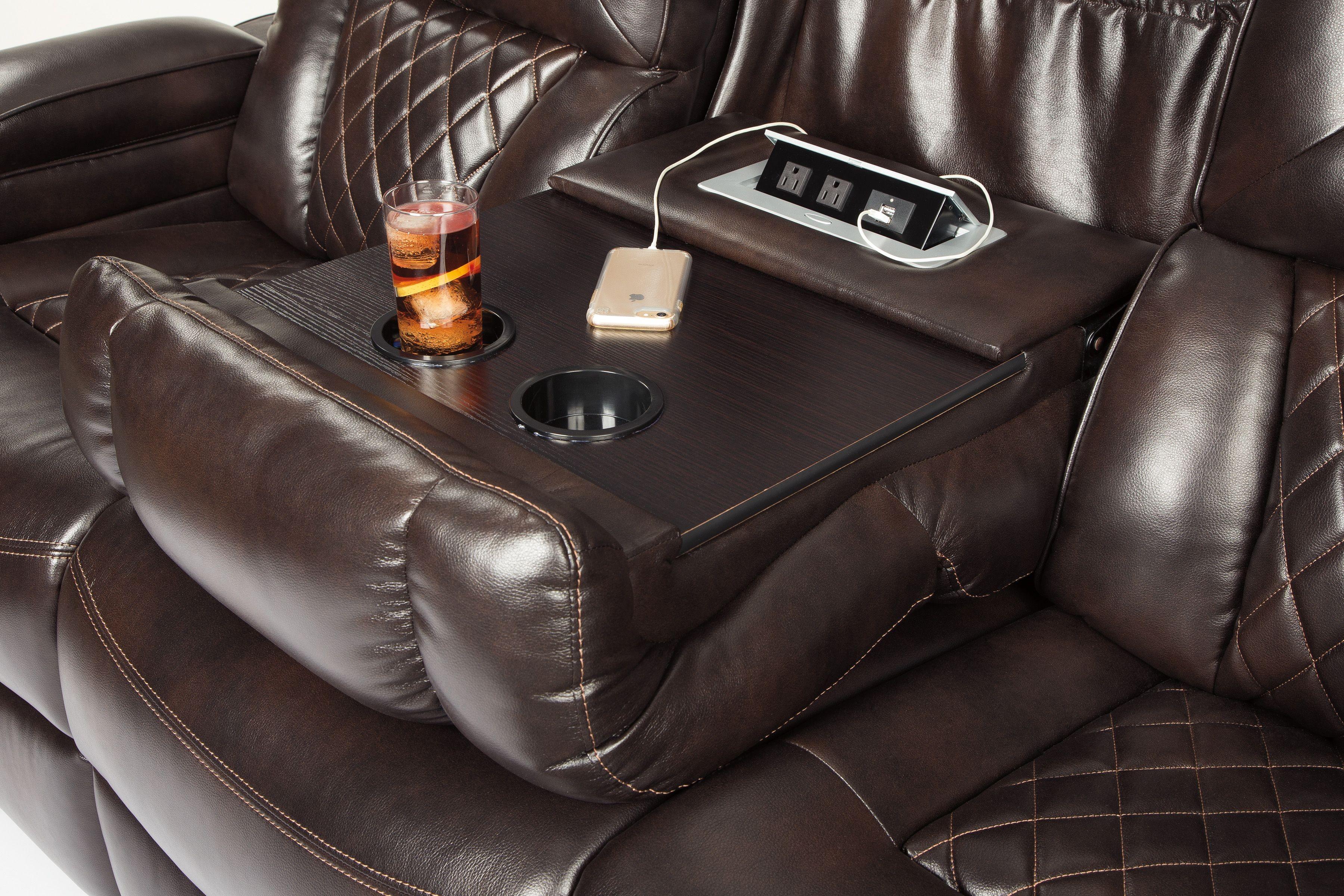 Warnerton Chocolate Power Reclining Sofa From Ashley Coleman Furniture