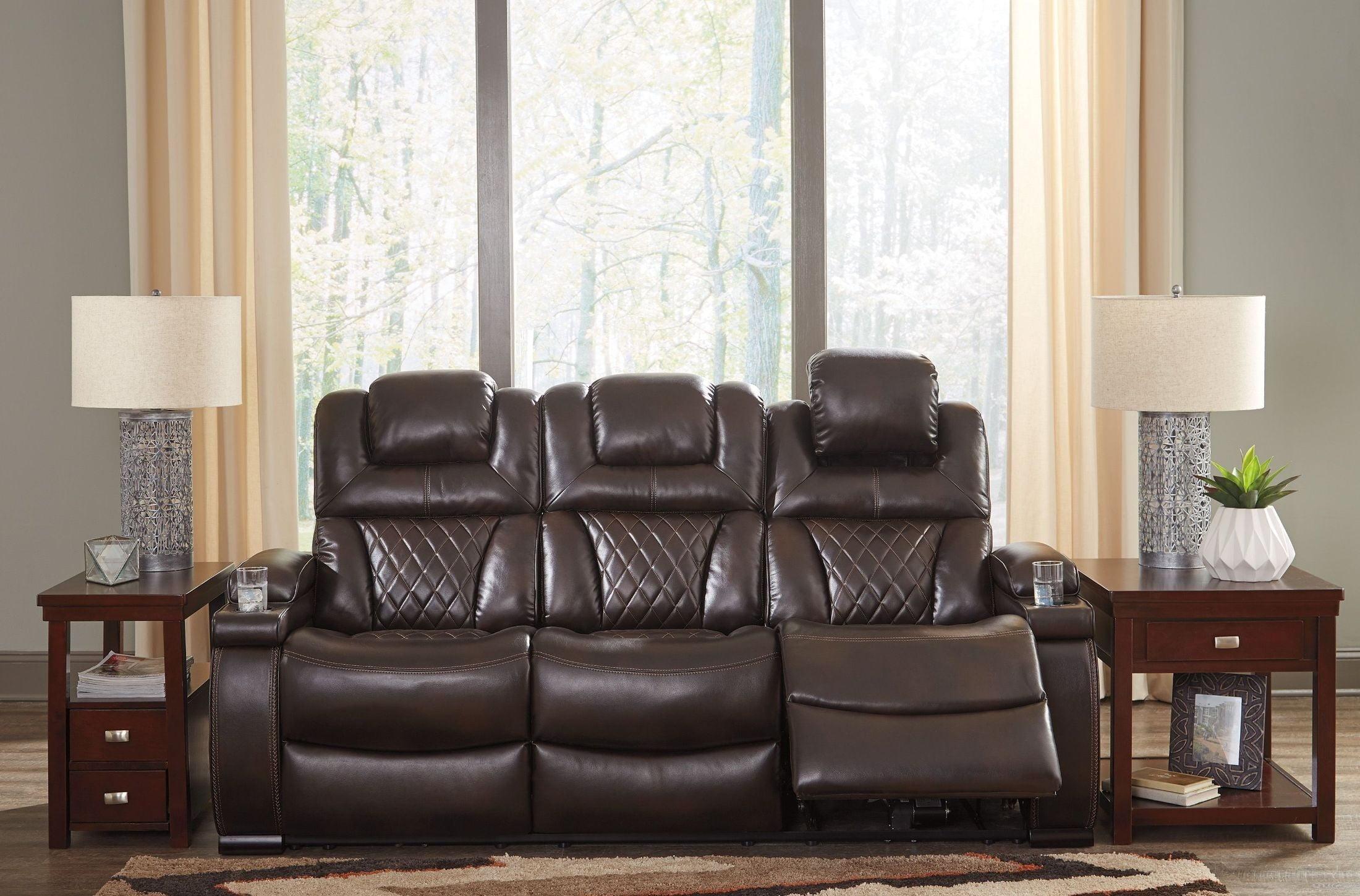 Warnerton Chocolate Power Reclining Sofa