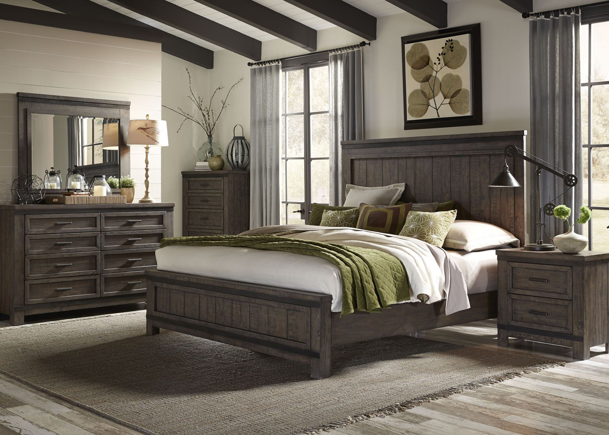 Thornwood Hills Rock Beaten Gray Panel Bedroom Set from Liberty ...