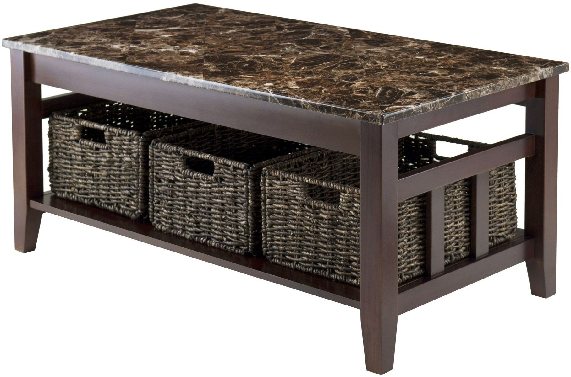 Zoey faux marble top coffee table from winsomewood for Marble top coffee table