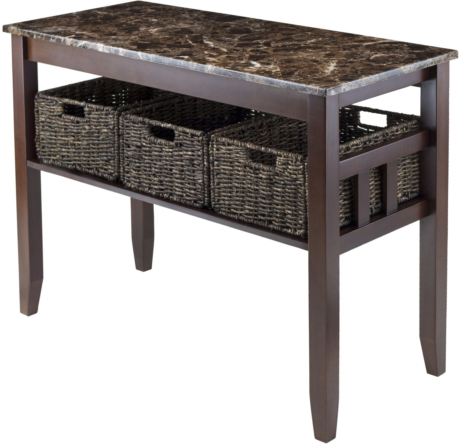 Zoey Faux Marble Top Console Table From Winsomewood