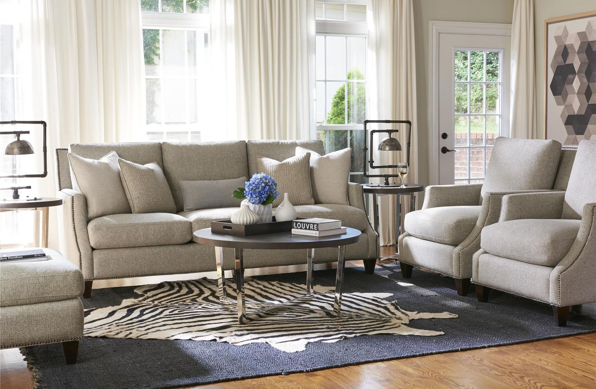Curated Brady Basic Chrome Living Room Set From Universal Coleman Furniture