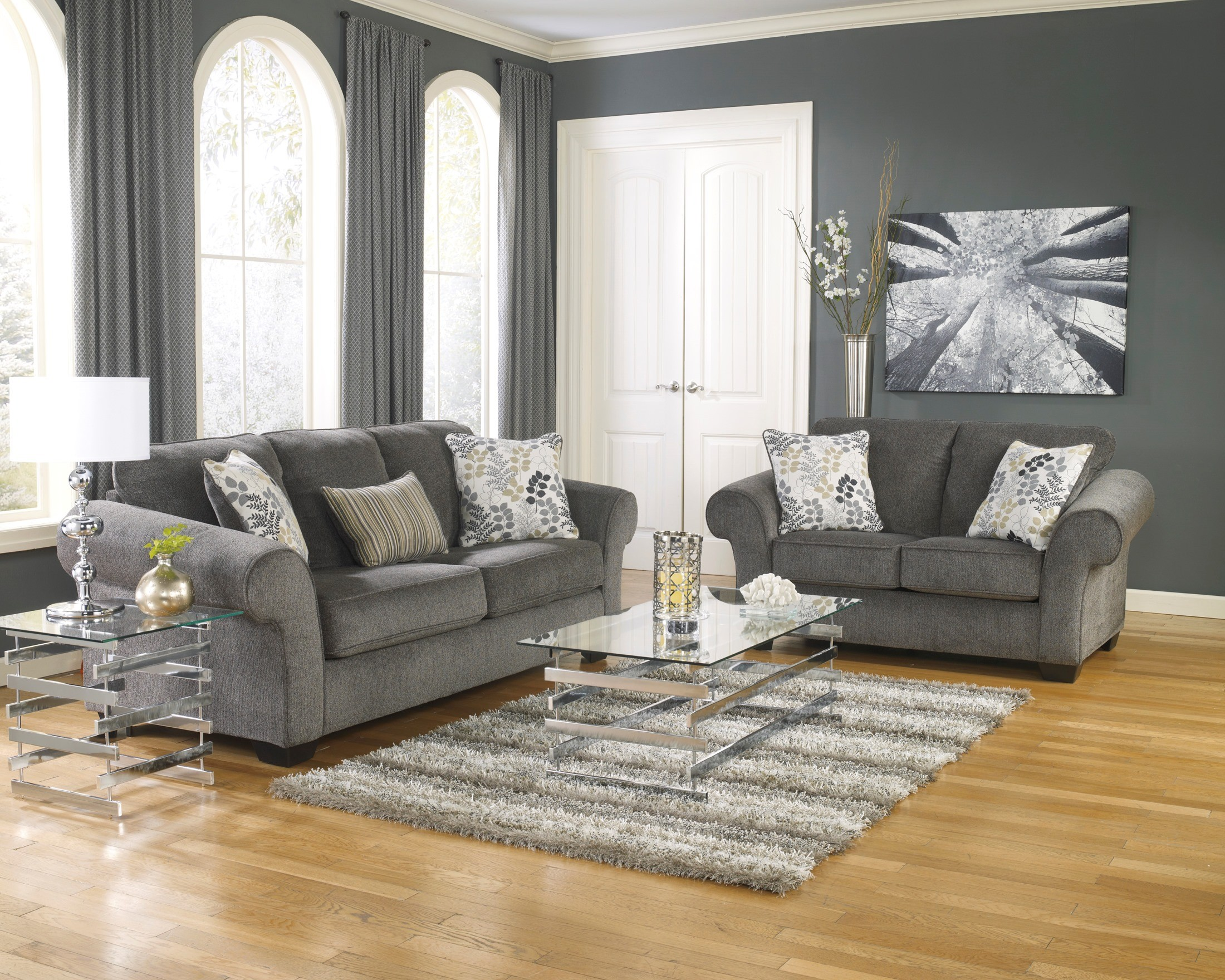 Makonnen Charcoal Queen Sofa Sleeper From Ashley 7800039