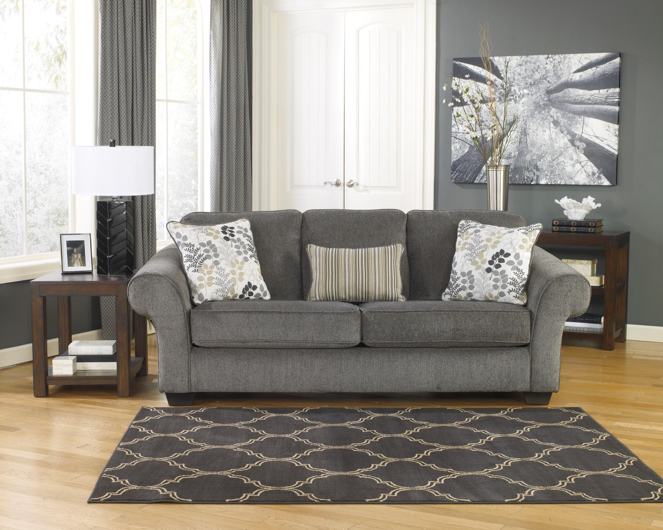 Makonnen Charcoal Queen Sofa Sleeper from Ashley