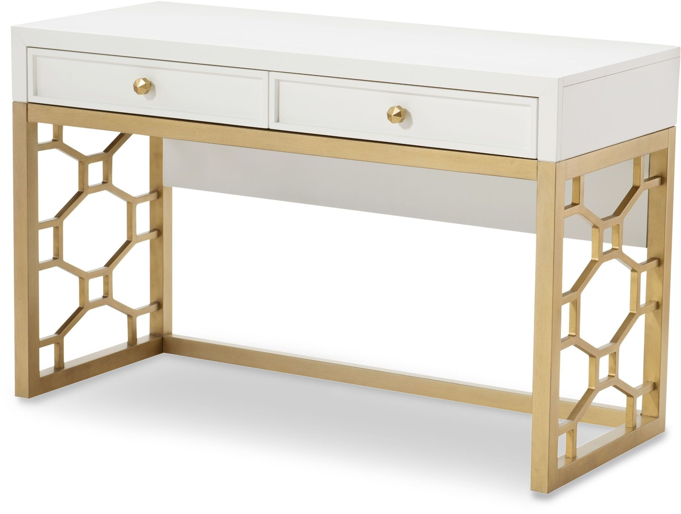 Uptown White And Gold Vanity From Racheal Ray Home