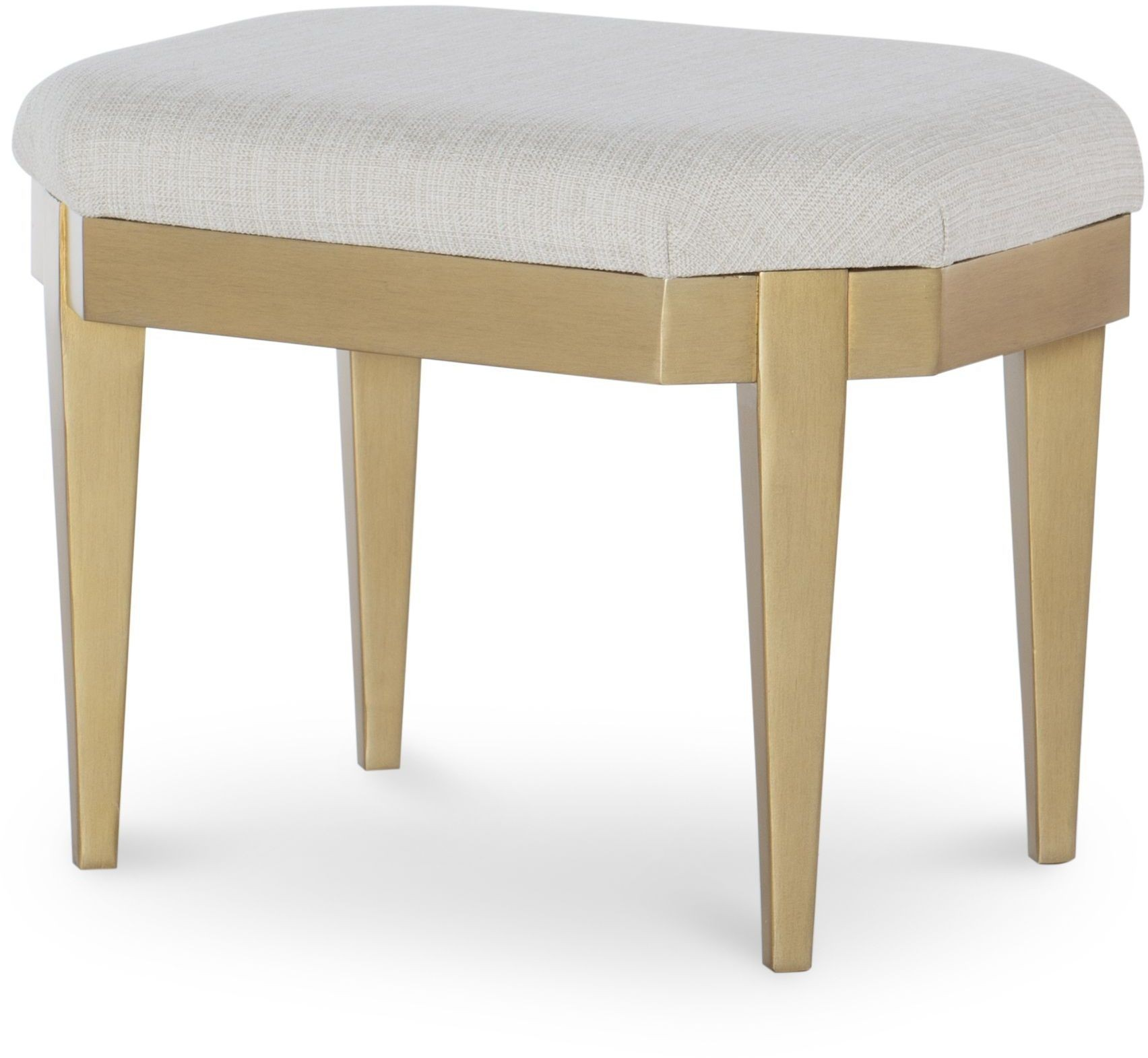 Uptown White And Gold Stool From Racheal Ray Home