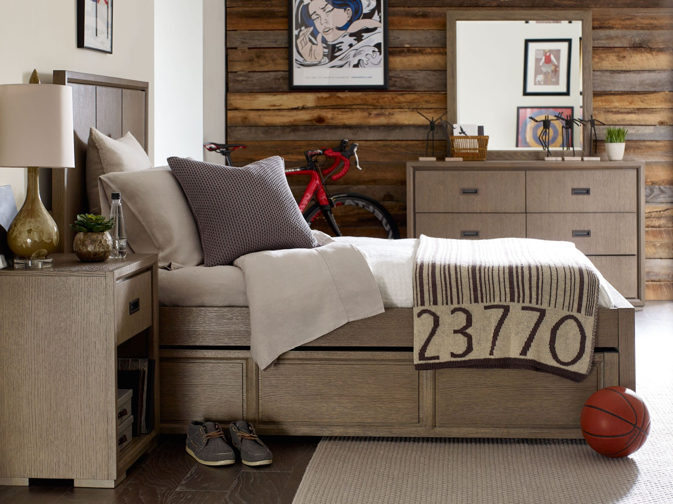 Midtown Greige Youth Panel Bedroom Set from Rachael Ray