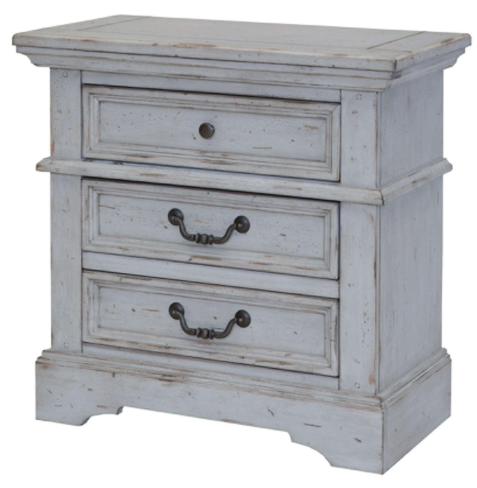 Grey Vintage Bedroom: Stonebrook Antique Gray Panel Bedroom Set, 7820-950-952