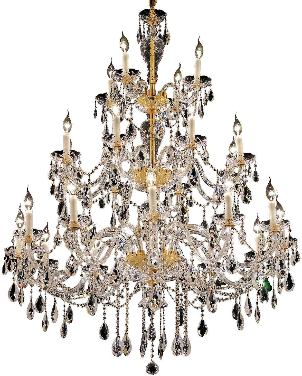 7829g45g rc alexandria 45 gold 24 light chandelier with clear royal cut crystal trim from elegant lighting 7829g45g rc homegallerystores com