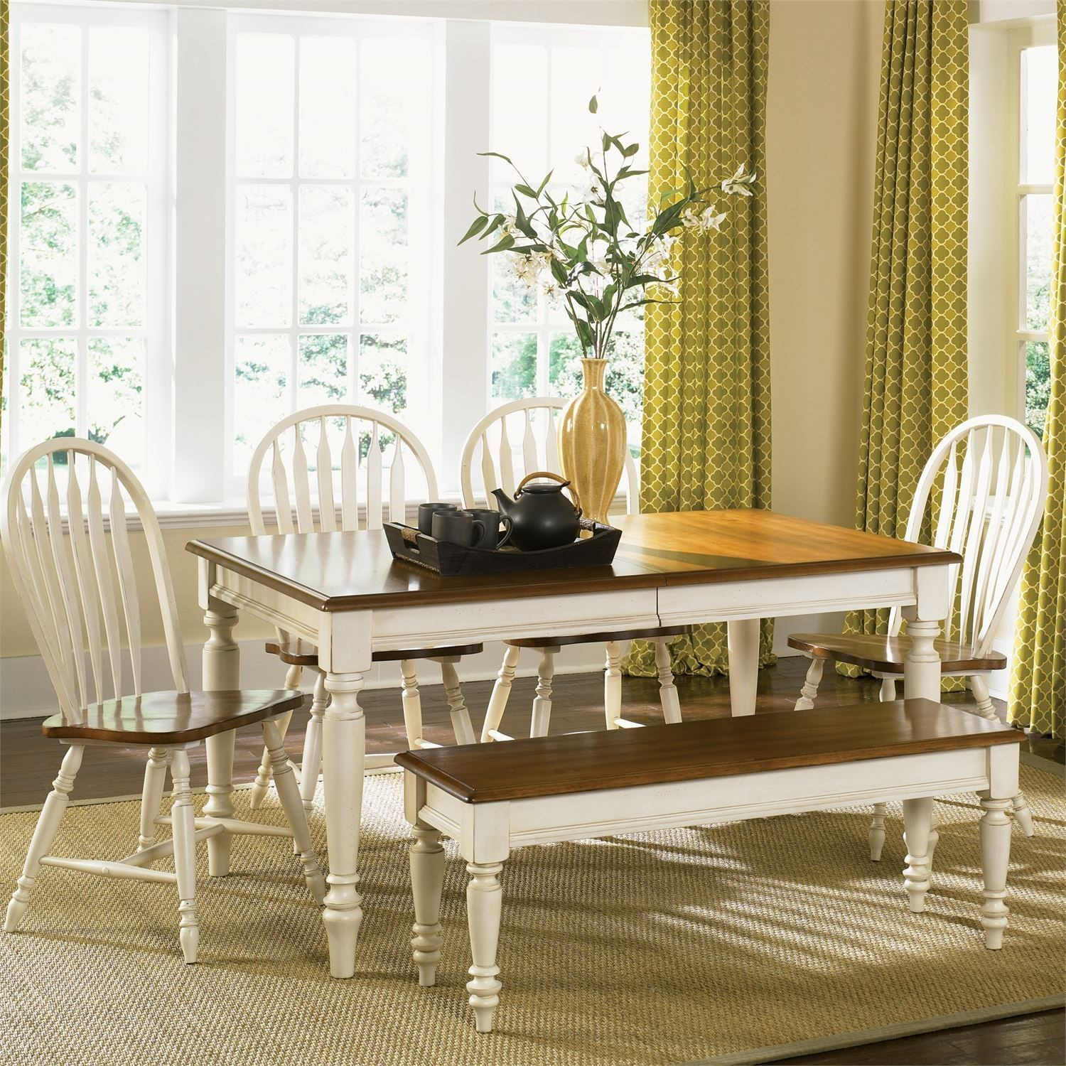 Liberty Furniture Low Country Sand Dining Bench At Hayneedle: Low Country Sand Dining Room Set From Liberty (79-T3876