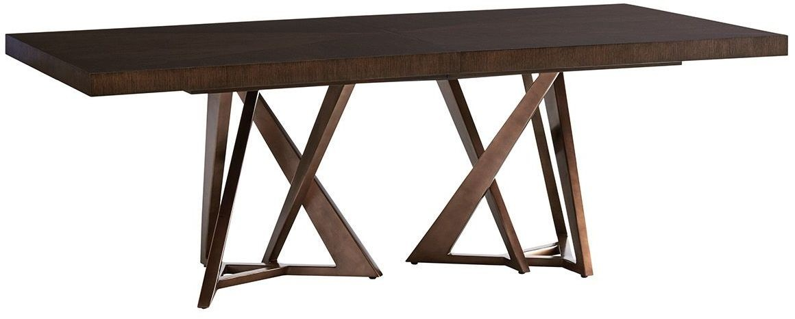 Zavala loggia rectangular double pedestal dining table from lexington coleman furniture - Pedestal dining table rectangular ...