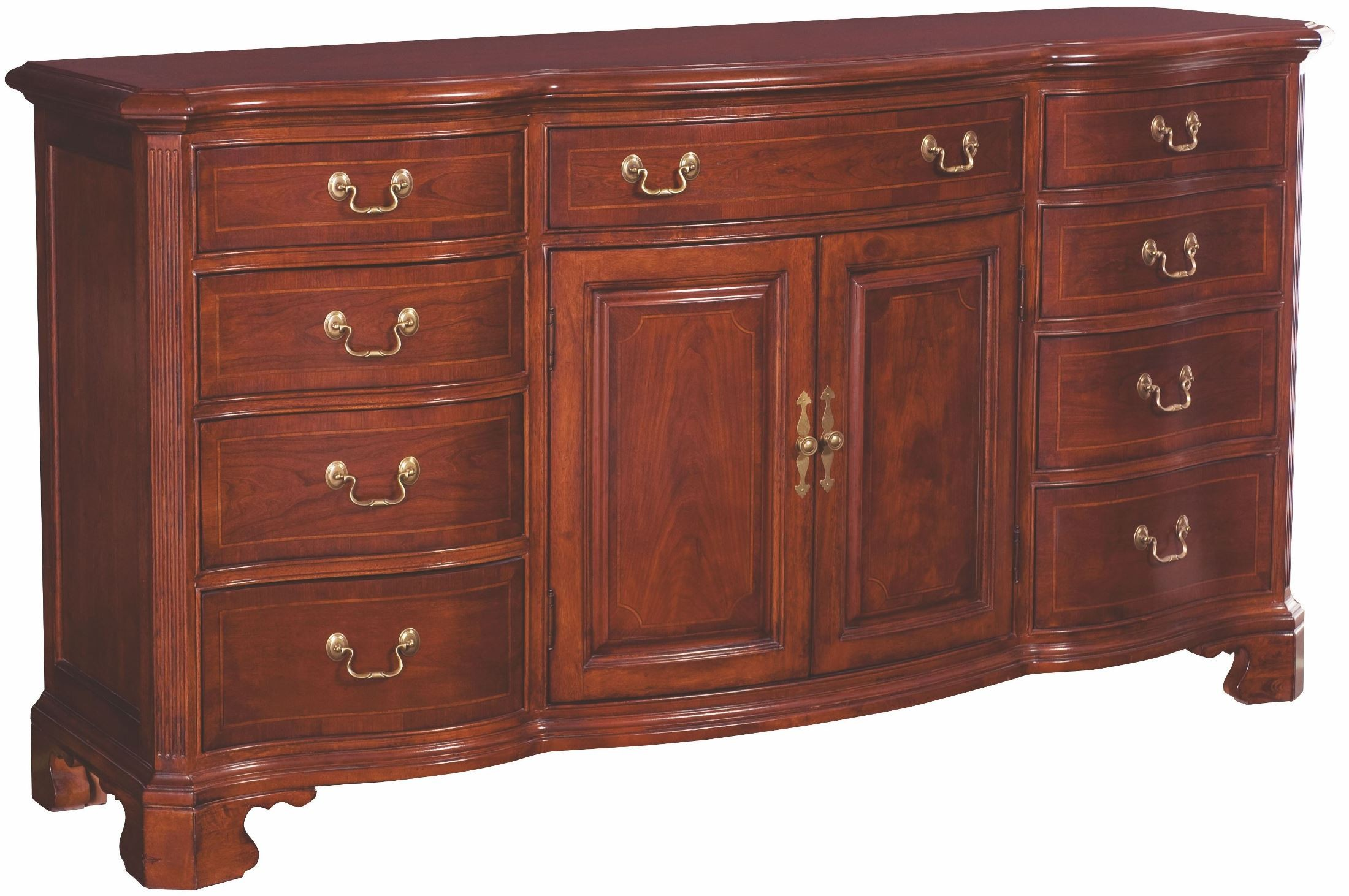 Cherry grove classic antique cherry door triple dresser for American classic antiques