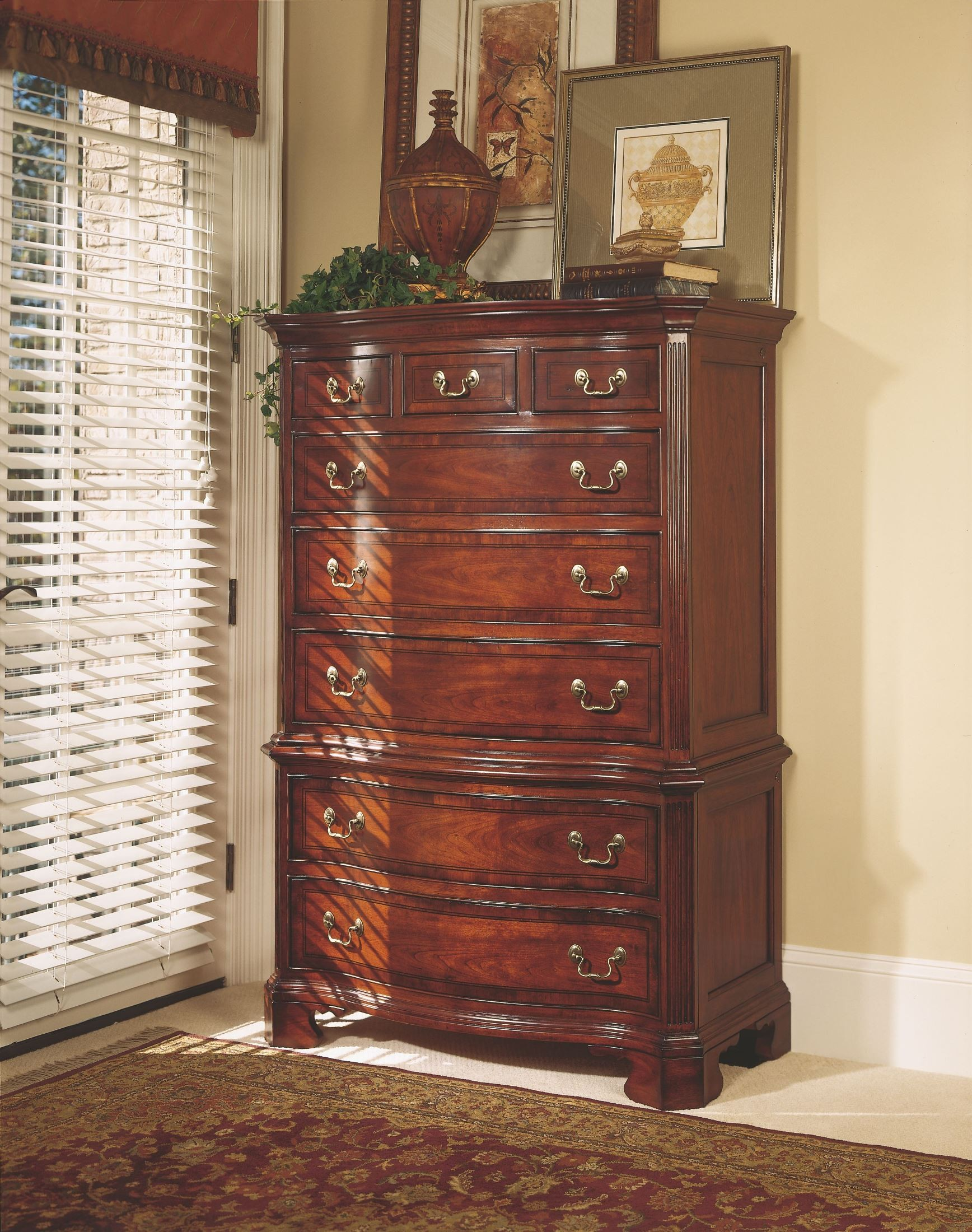Cherry Grove Classic Antique Cherry Chest On Chest From