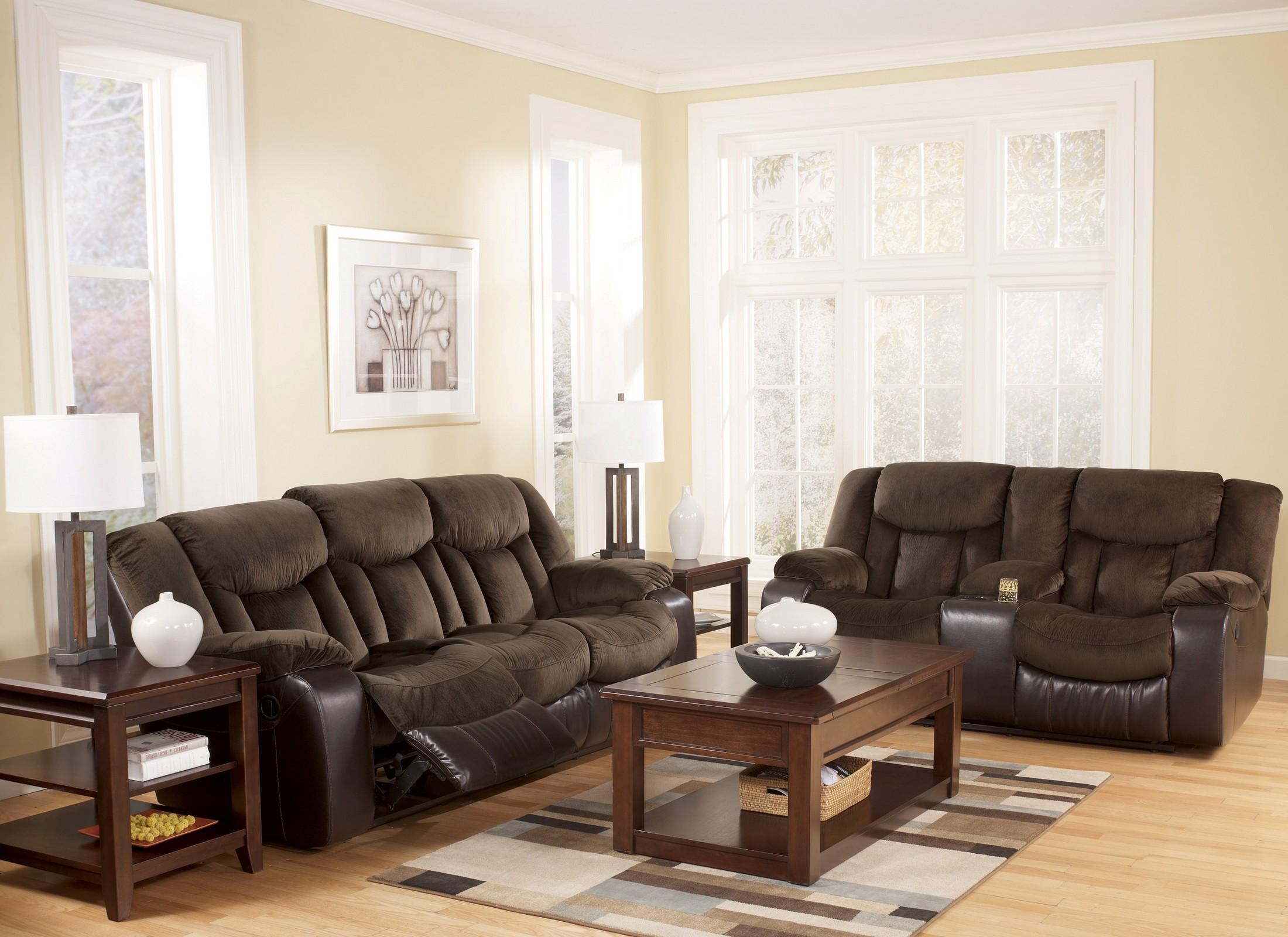 Tafton Java Reclining Living Room Set From Ashley 79202 Coleman Furniture