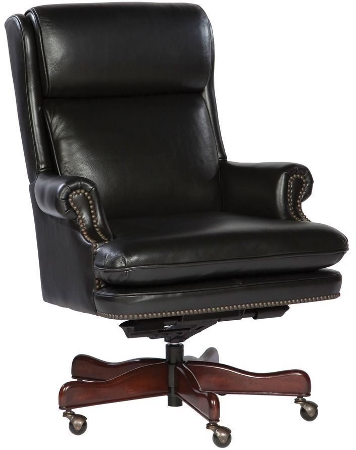 x  sc 1 st  Coleman Furniture & Executive Black Nailhead Trim Leather Chair from Hekman Furniture ...