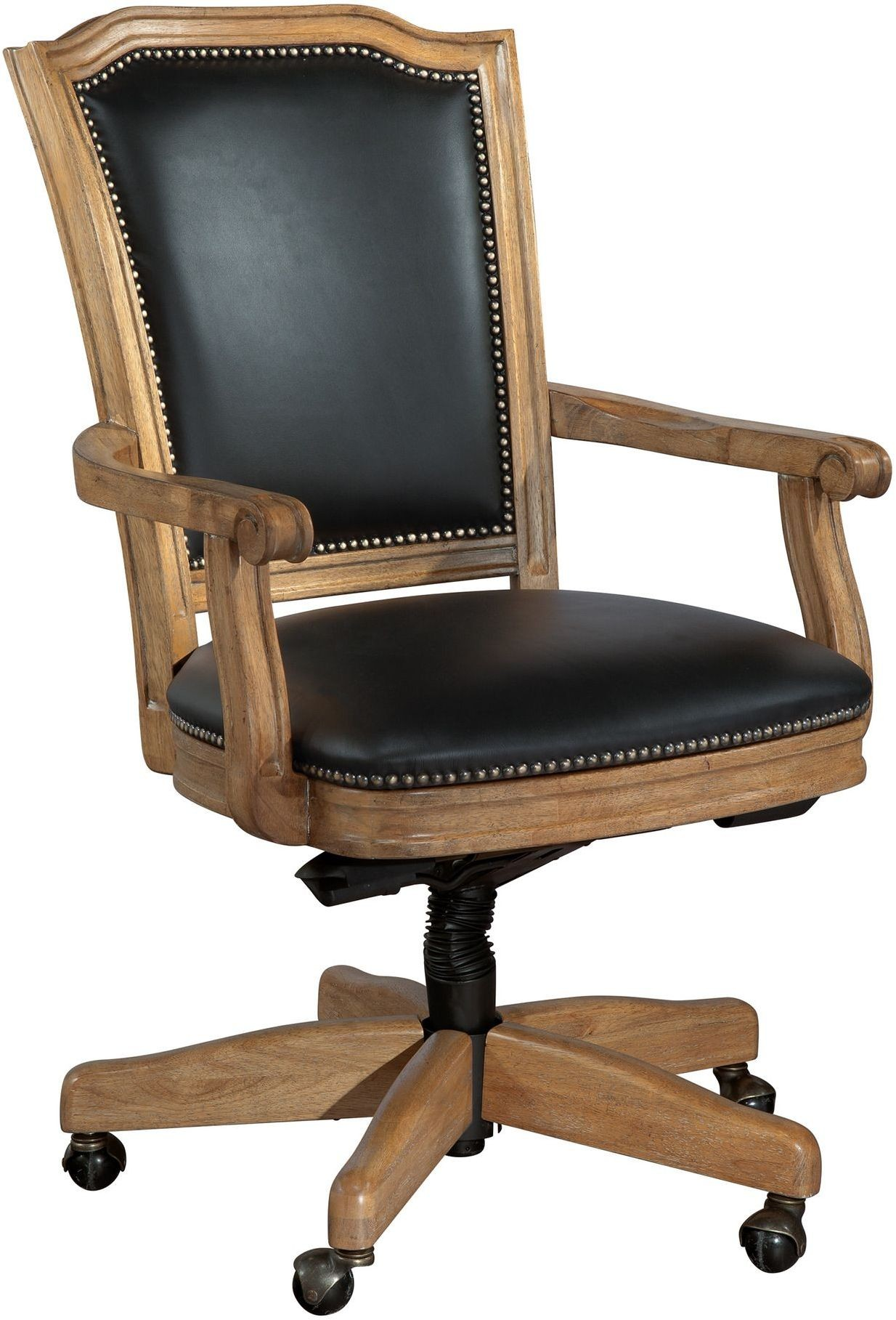 Wood Office Furniture Product ~ Black wood frame office chair from hekman furniture