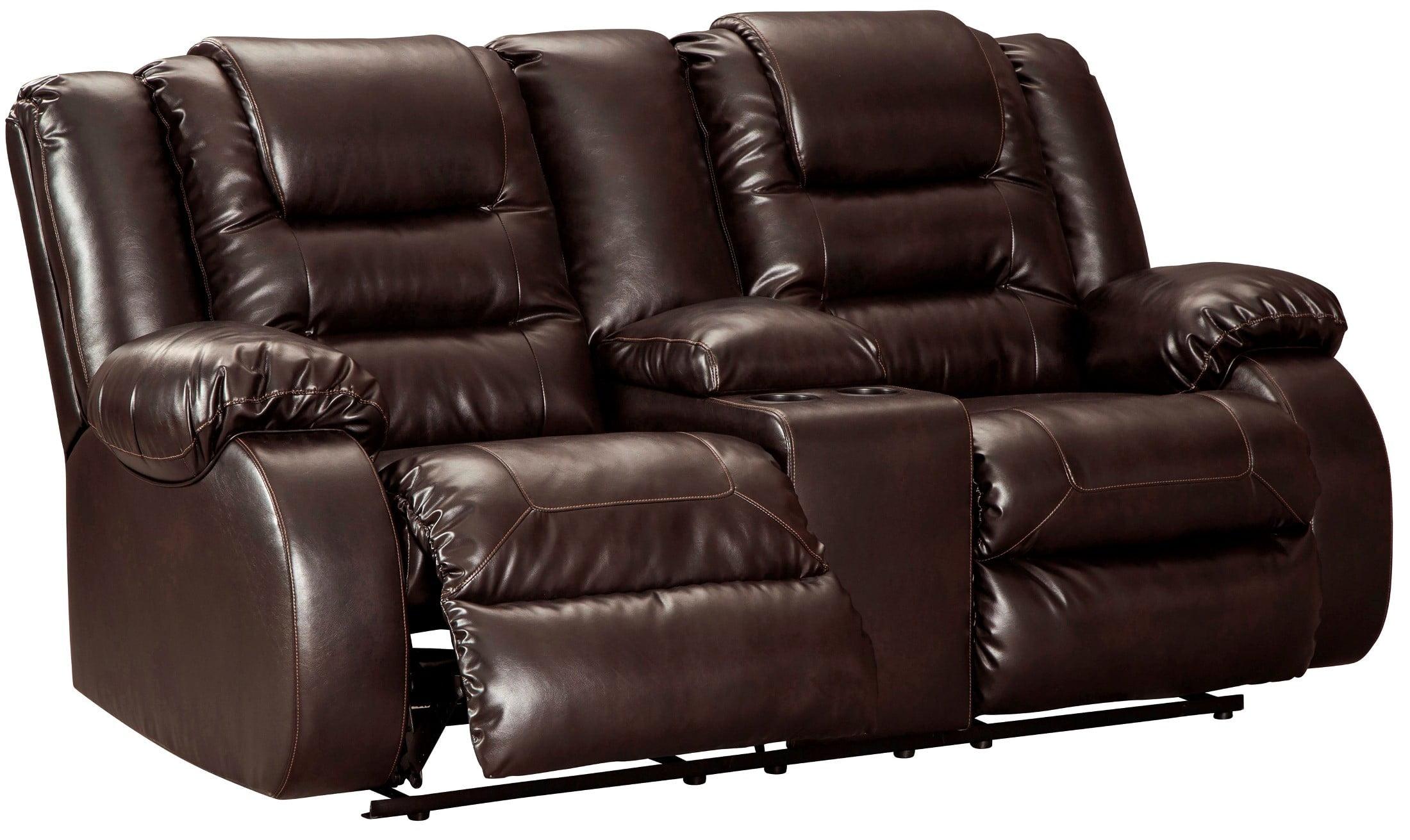 Astounding Vacherie Chocolate Double Reclining Loveseat Inzonedesignstudio Interior Chair Design Inzonedesignstudiocom