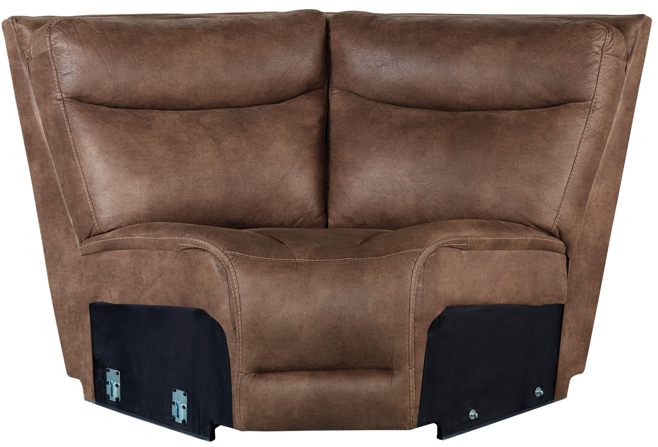 Valto saddle storage reclining sectional from ashley for Affordable furniture 3 piece sectional in wyoming saddle