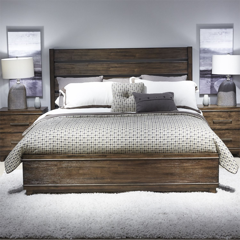 Storehouse Bedroom Furniture: Ventura Blvd Bronze Spice Storage Bedroom Set From Liberty