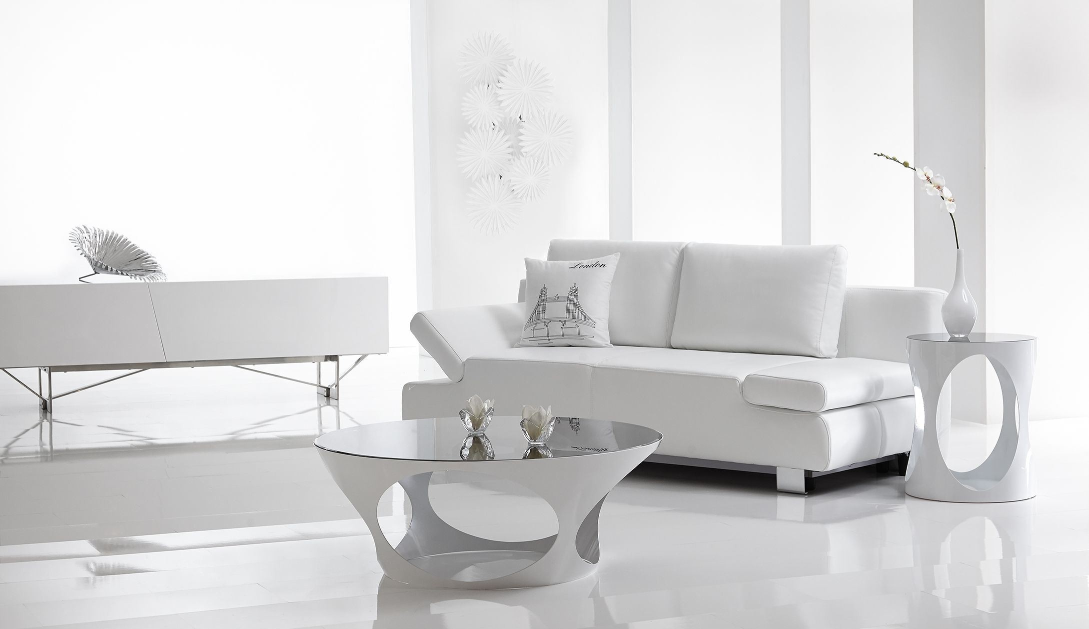 Anna White Sofa Bed From Bellini Modern Living (ANNA-Sofa