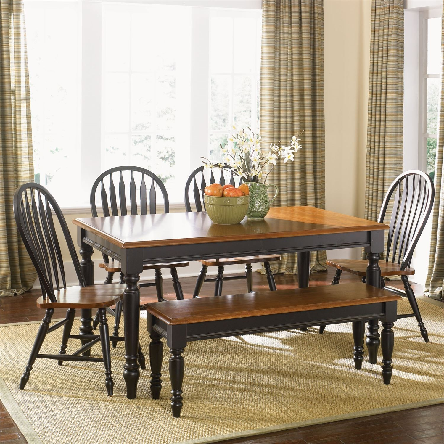 Low Country Black Extendable Dining Room Set Low Country Black