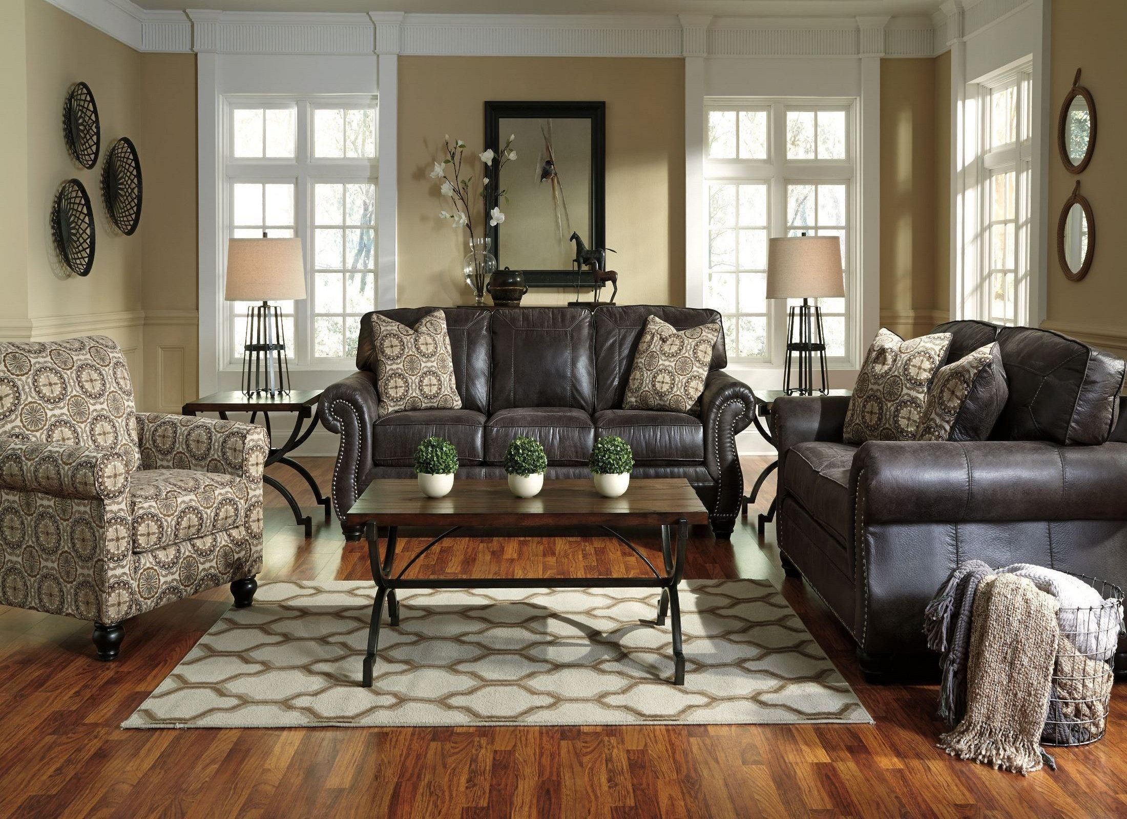 Breville Charcoal Living Room Set From Ashley 80004 38 35