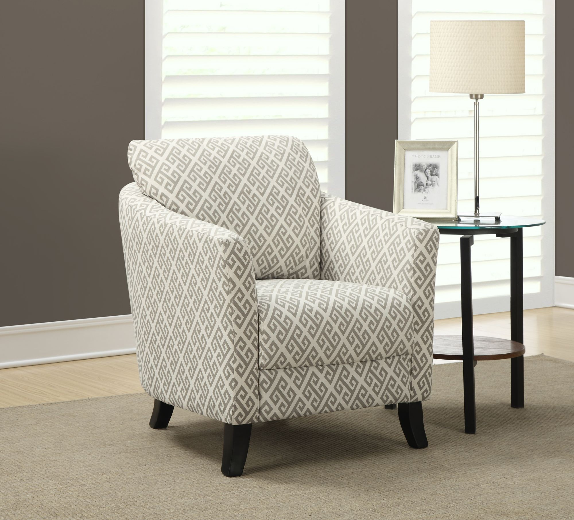 Sandstone Gray Maze Fabric Accent Chair From Monarch 8009