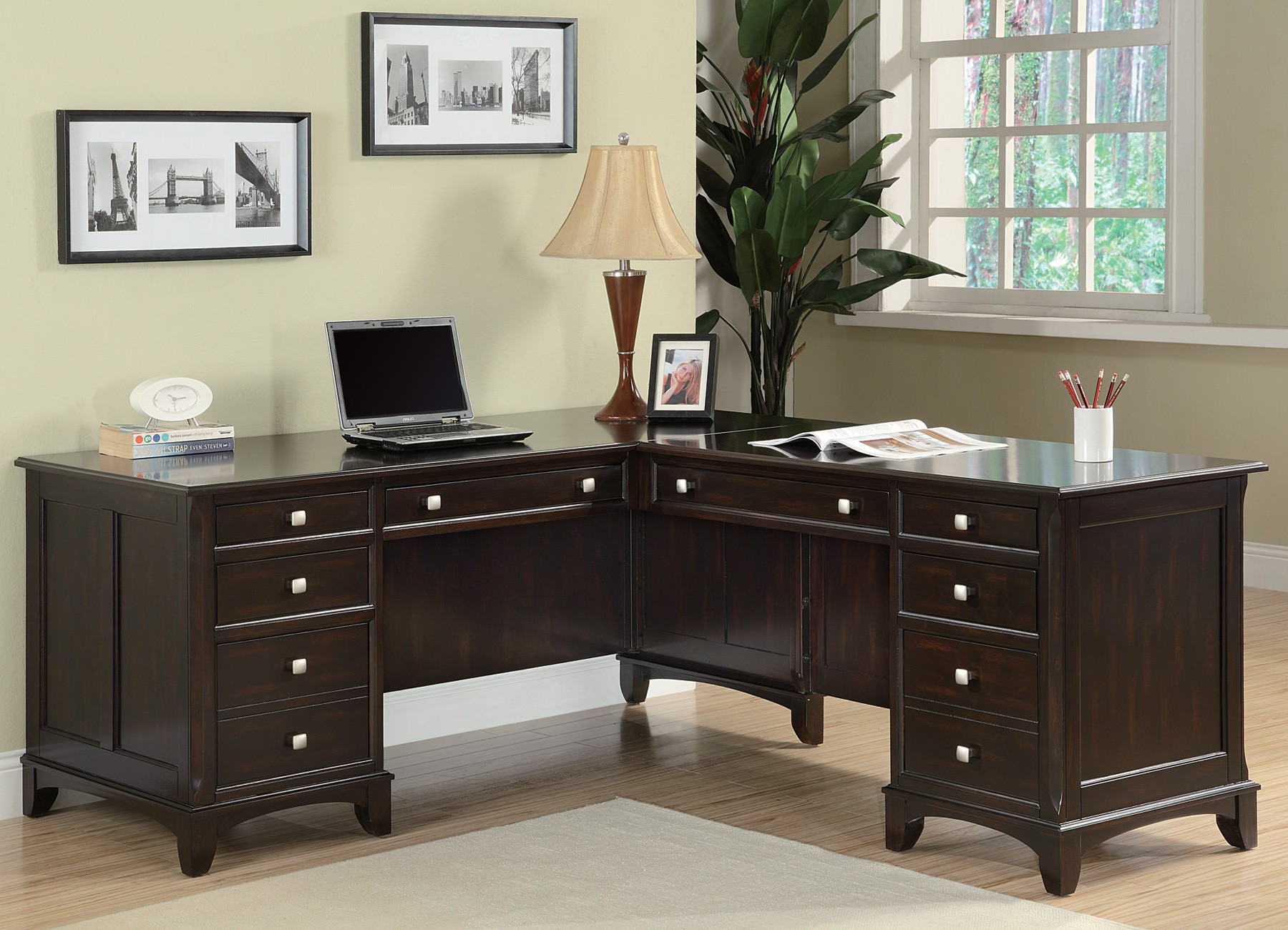 L Shaped Home Office To Garson Home Office Shaped Desk From Coaster 801011l801011r Coleman Furniture 801011l801011r