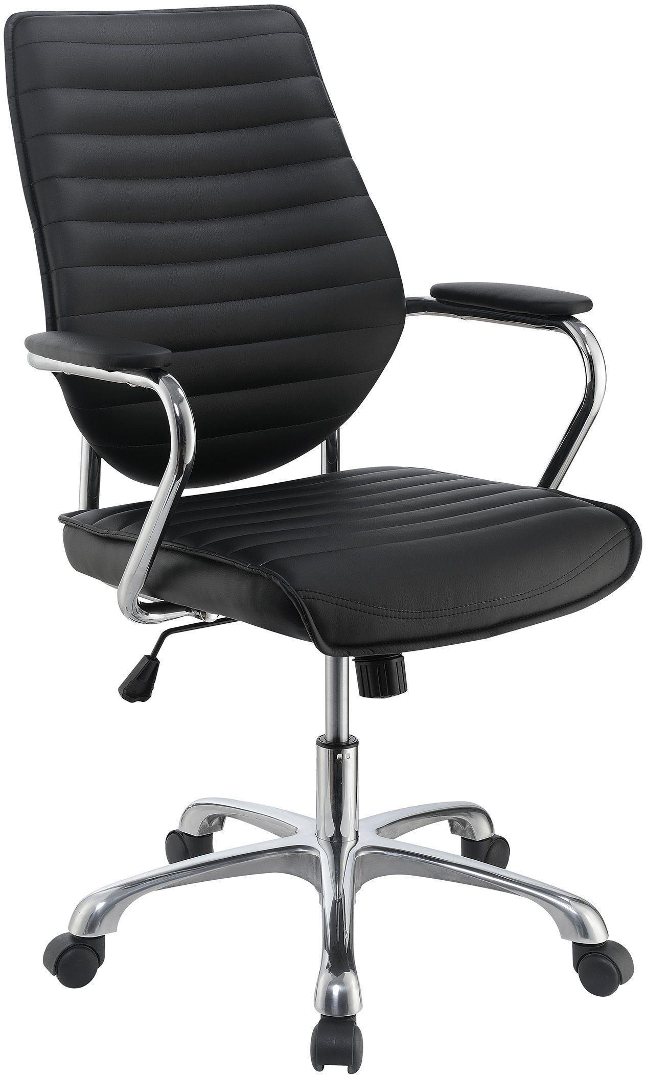 black high back adjustable upholstered office chair by scott living from coaster coleman furniture. Black Bedroom Furniture Sets. Home Design Ideas