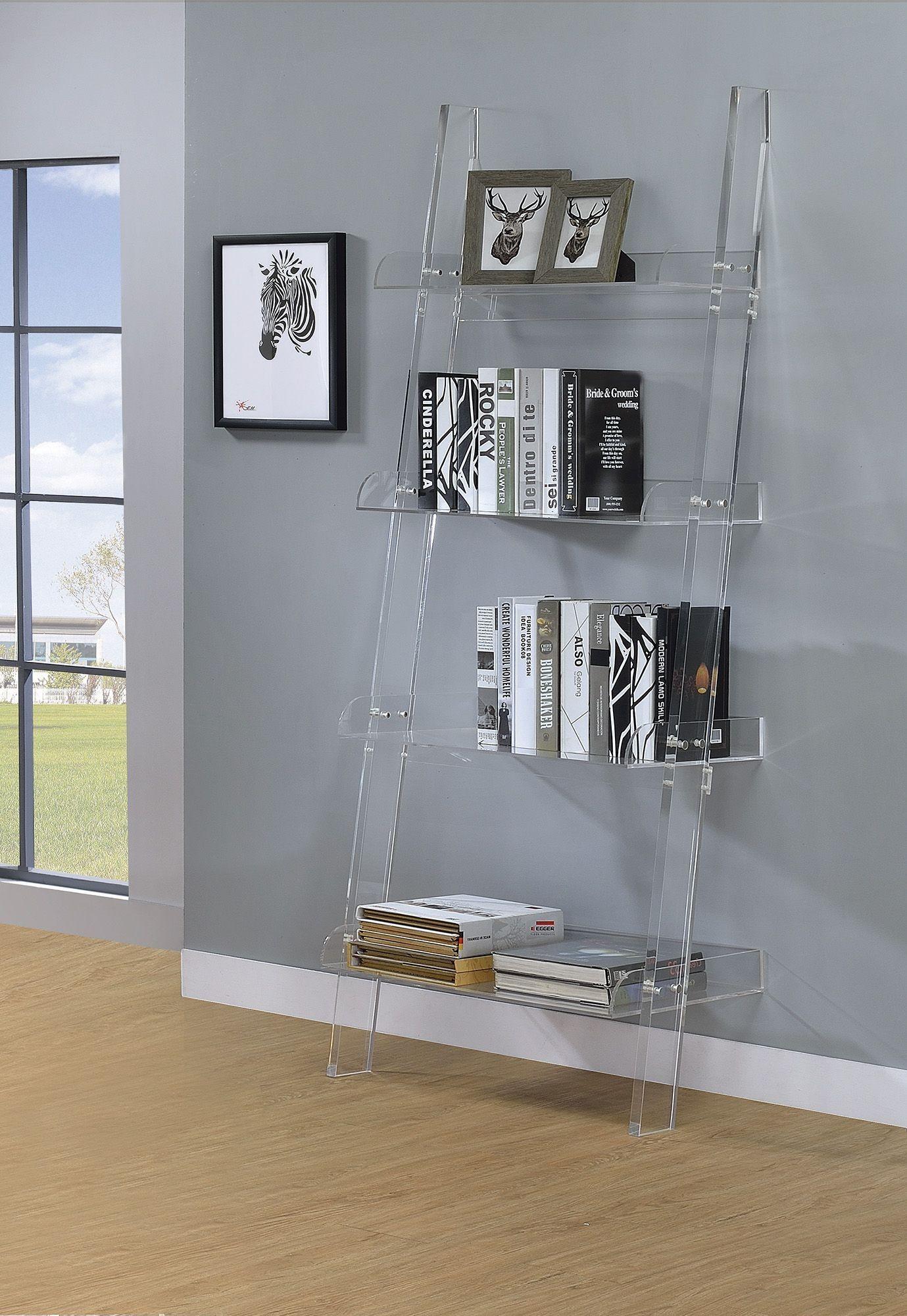 Amaturo Acrylic Open Shelf Bookcase From Coaster Coleman Furniture