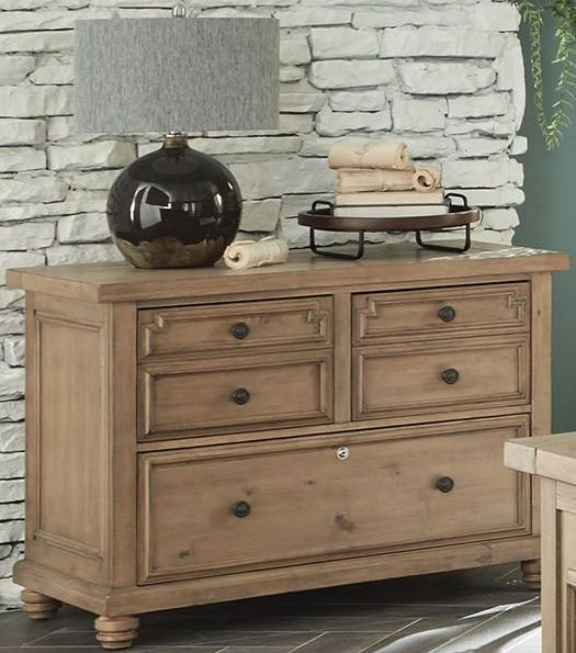 Modern Vintage Rustic Smoke File Cabinet By Donny Osmond