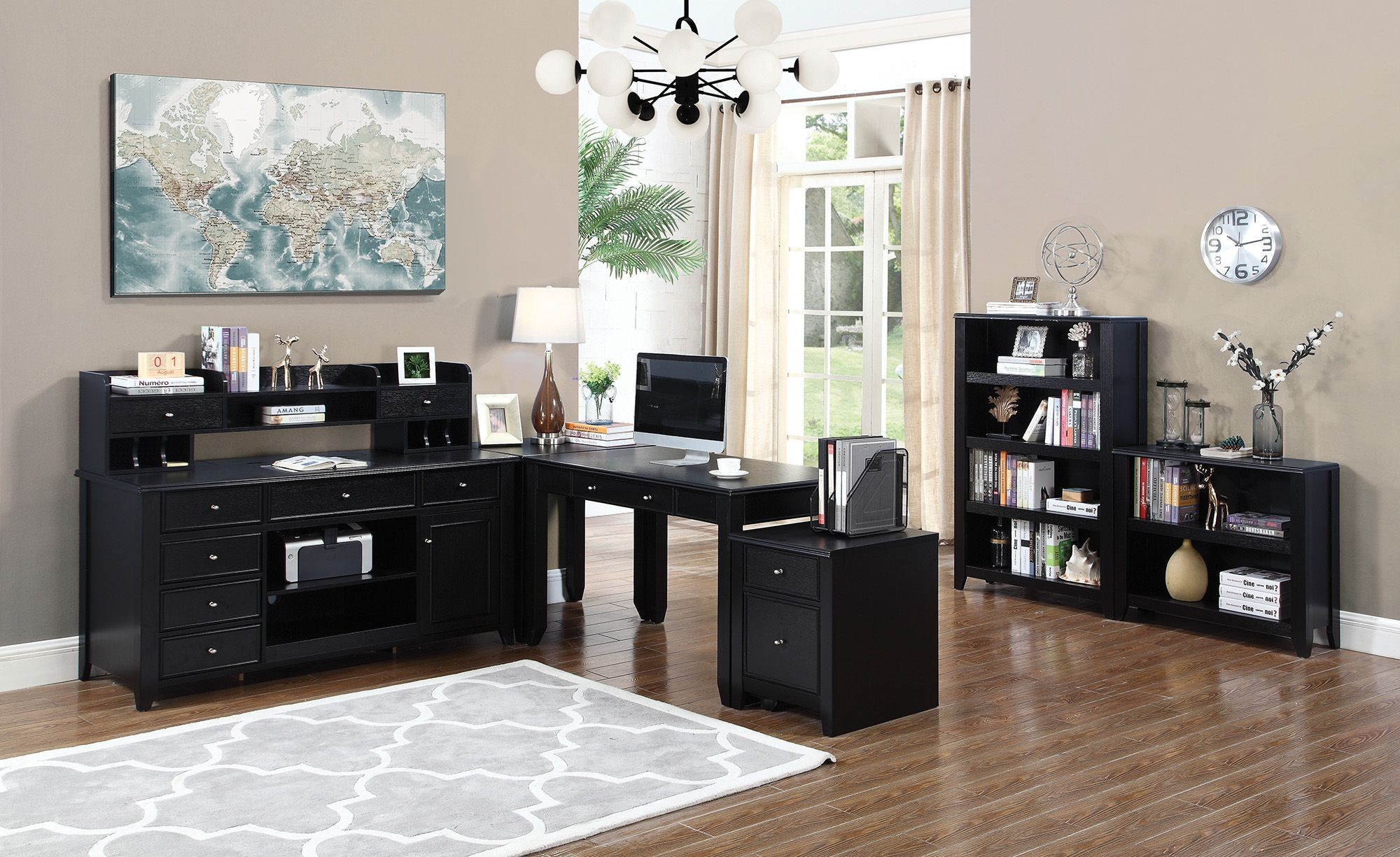 preater black home office set from coaster coleman furniture