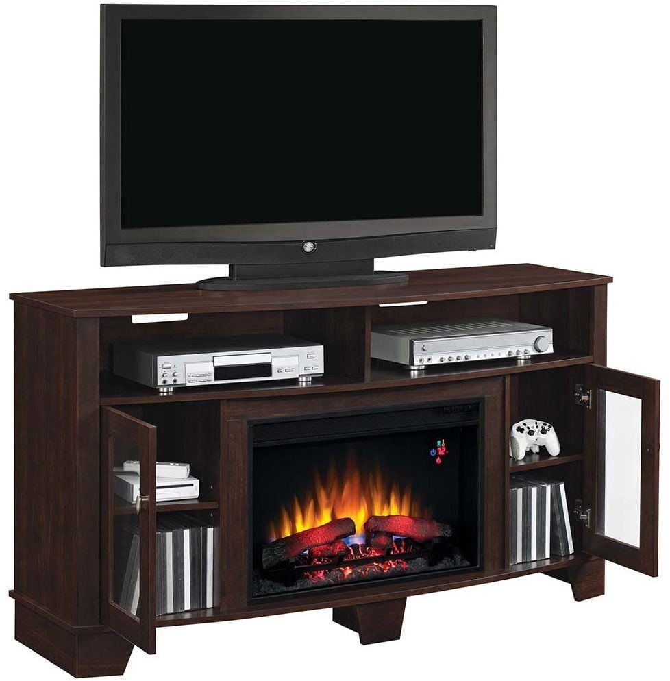 Classicflame Midnight Cherry La Salle Tv Stand With 26 Electric Fireplace From Twin Star