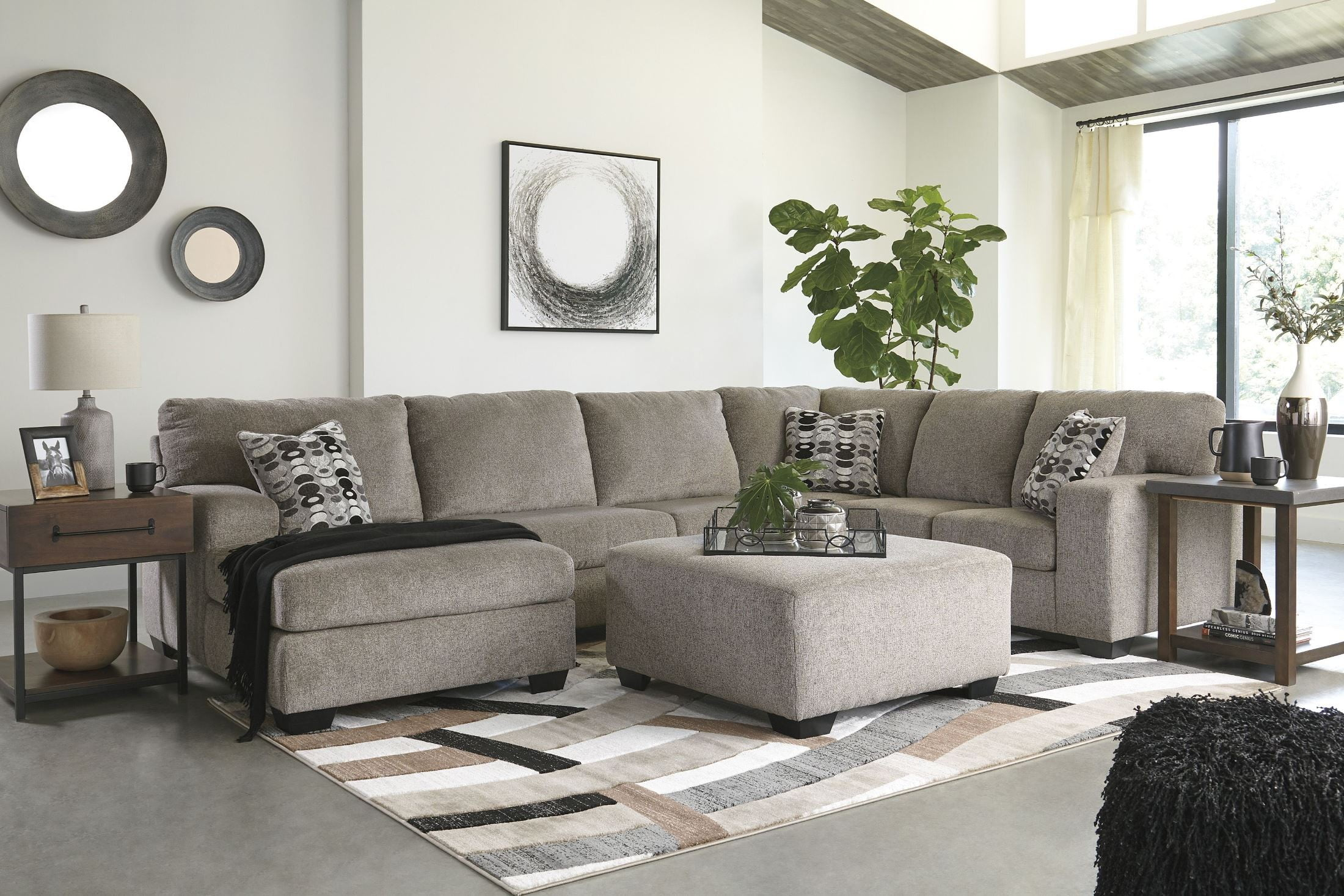 Incredible Ballinasloe Platinum Laf Sectional Ocoug Best Dining Table And Chair Ideas Images Ocougorg