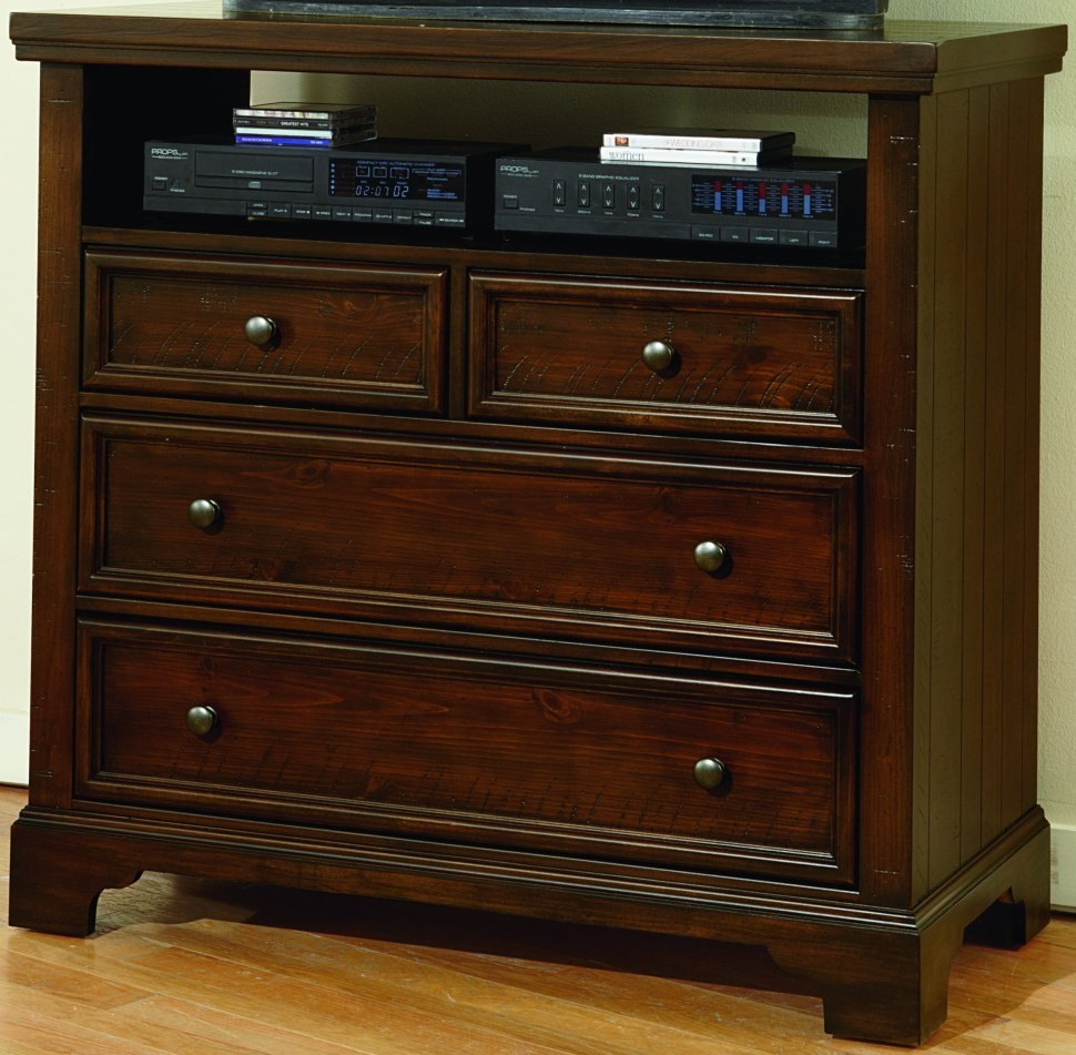 Hanover Dark Cherry 4 Drawer Media Chest From Virginia