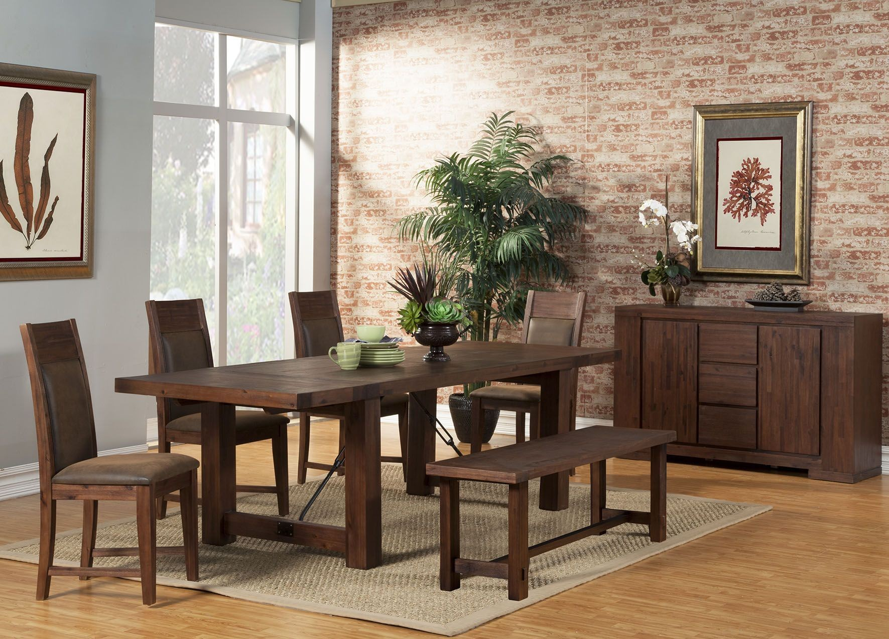 pierre cappuccino dining room set from alpine coleman middleton cappuccino extendable rectangular dining room